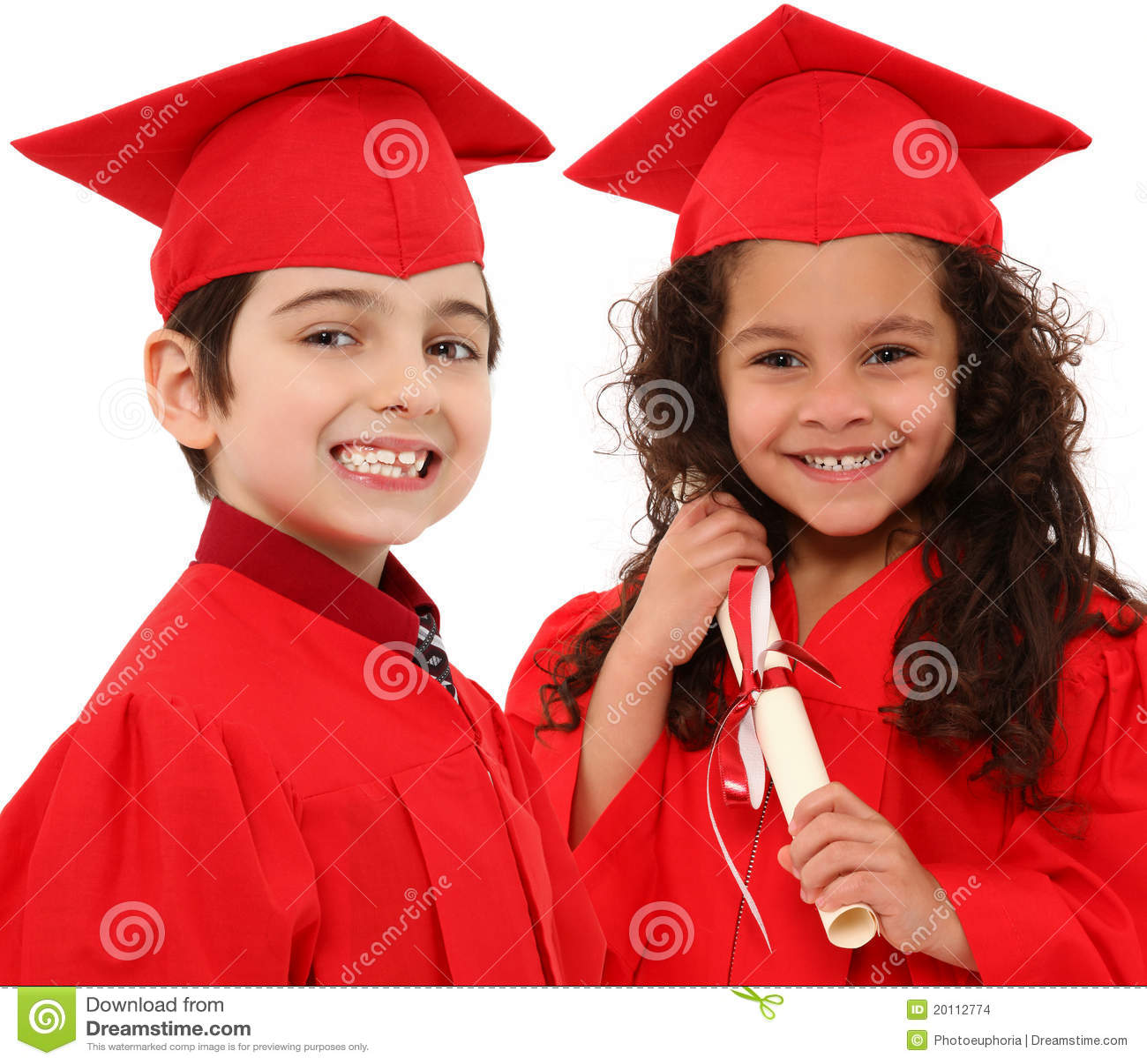 Kindergarten Graduation Boy And Girl Child I Stock Photo - Image of ...