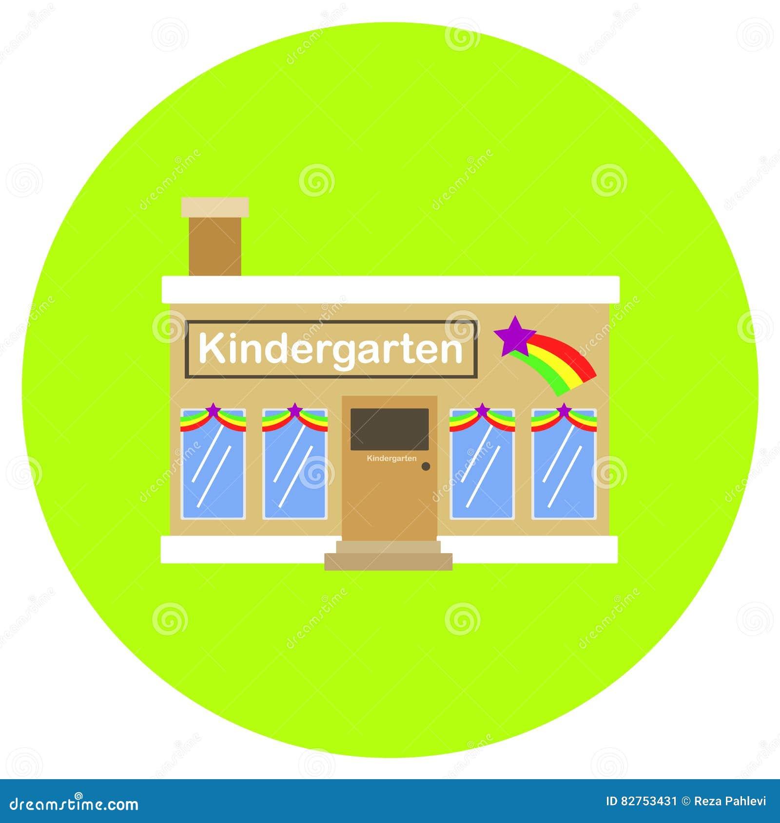 Kindergarten icon in trendy flat style isolated on grey background kindergarten icon in trendy flat style isolated on grey background building symbol for your design logo ui vector illustration biocorpaavc