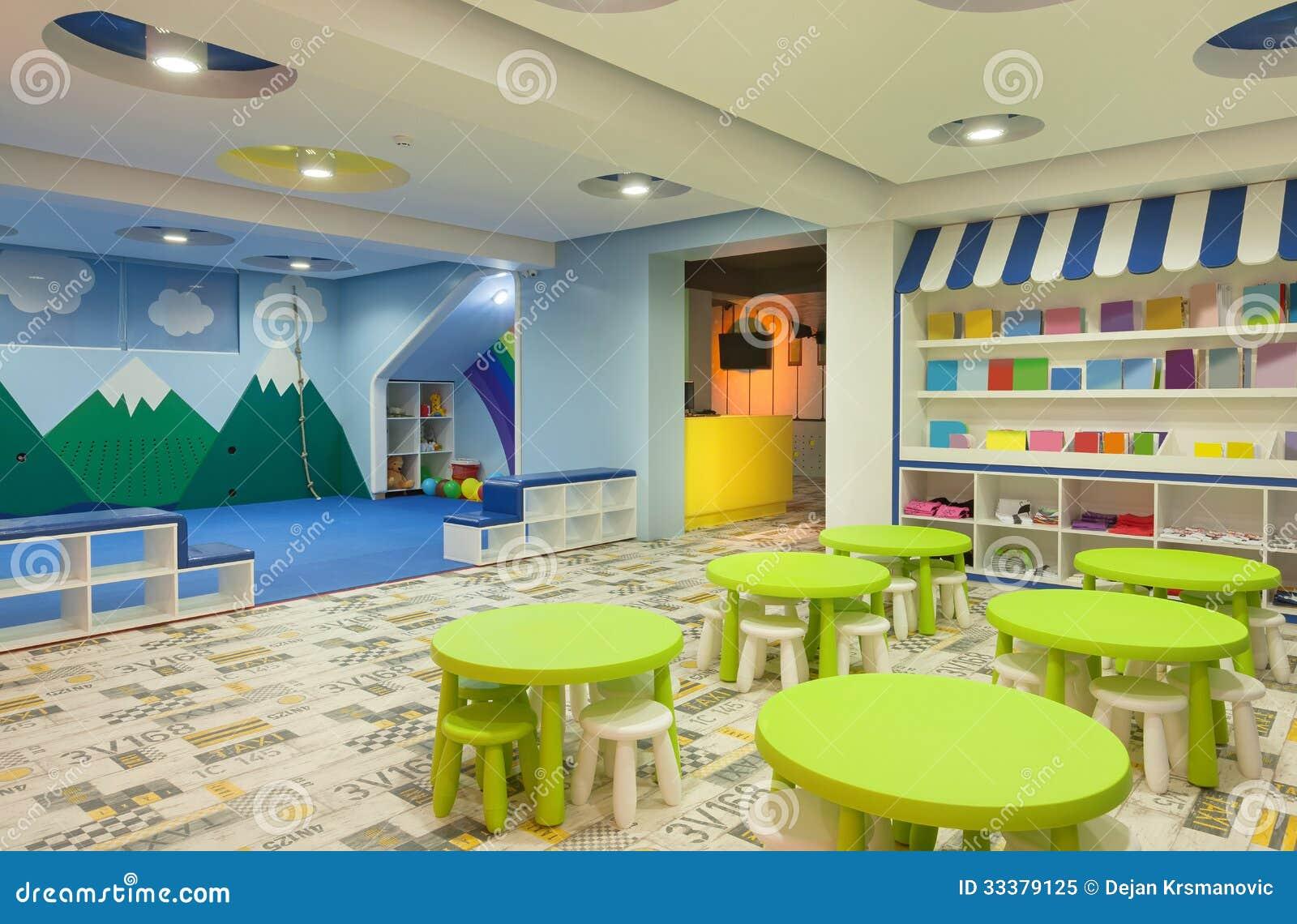 Kindergarten stock image. image of indoor furniture 33379125