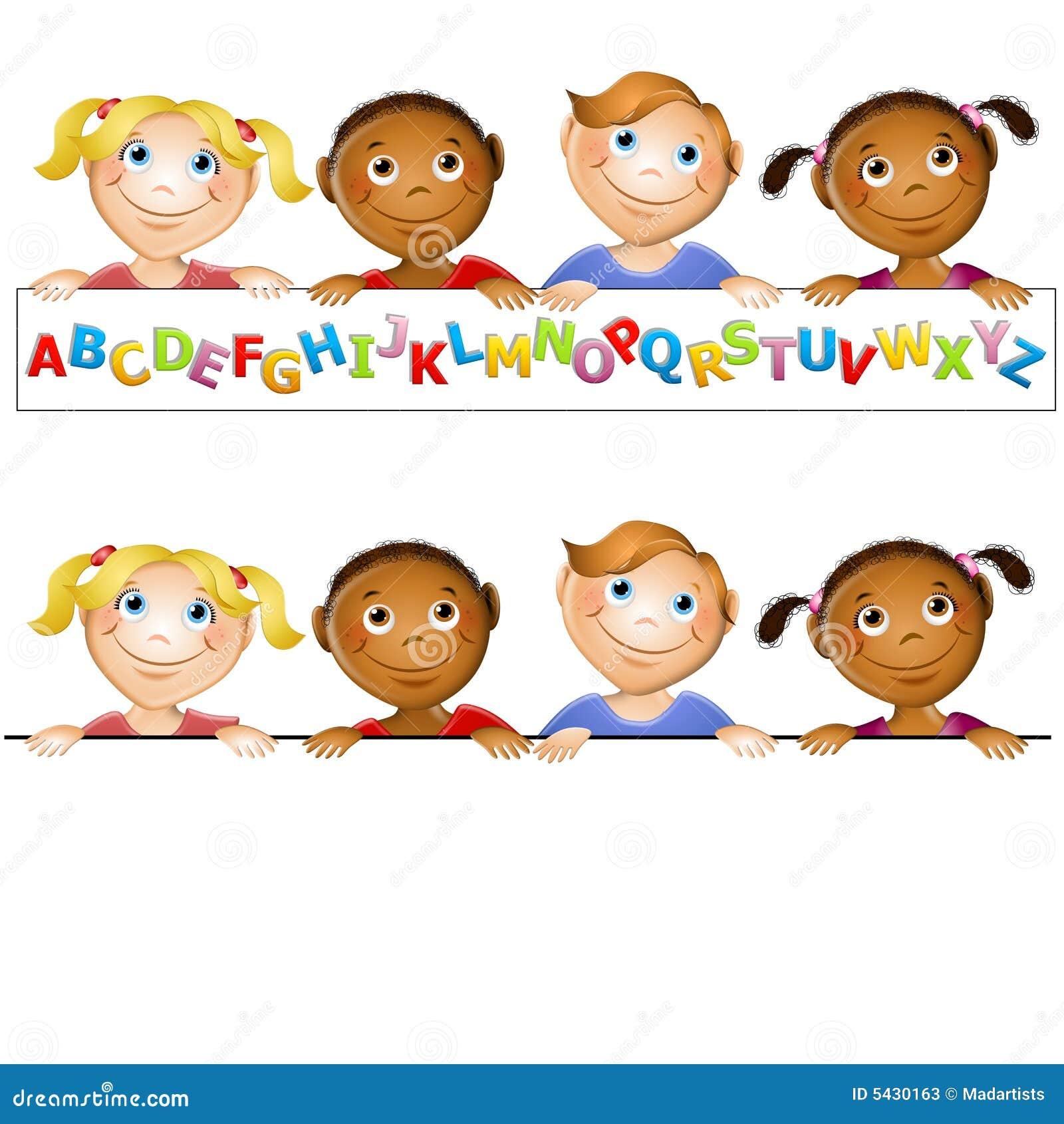 Kinder Garden: Kindergarten Kids Alphabet Logo Stock Illustration
