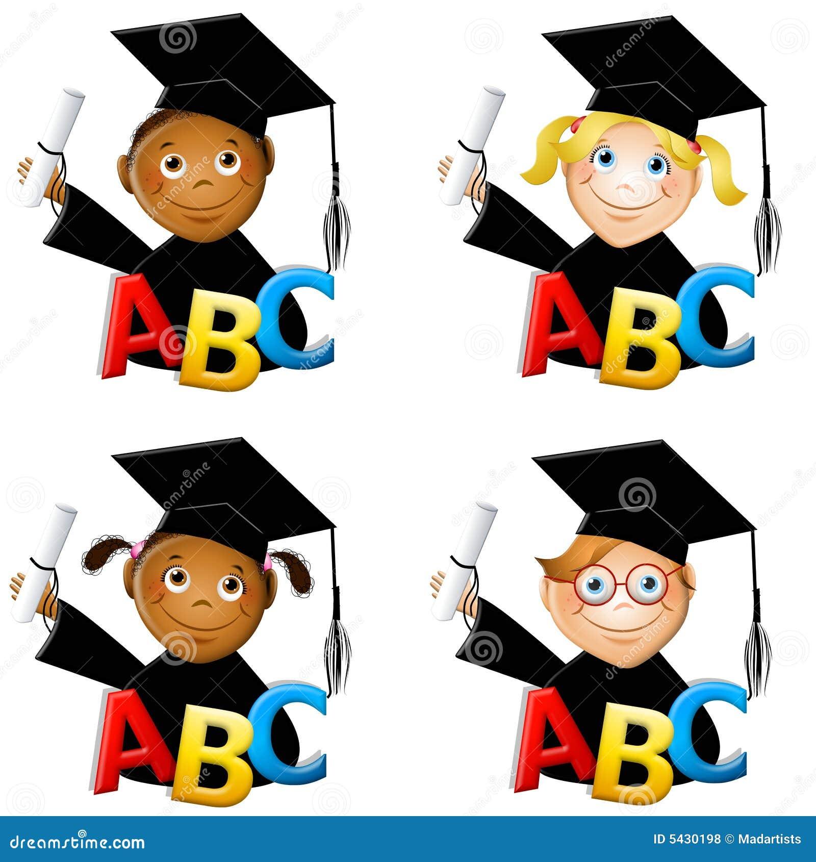 Kindergarten Kids Graduates Stock Illustration - Image ...