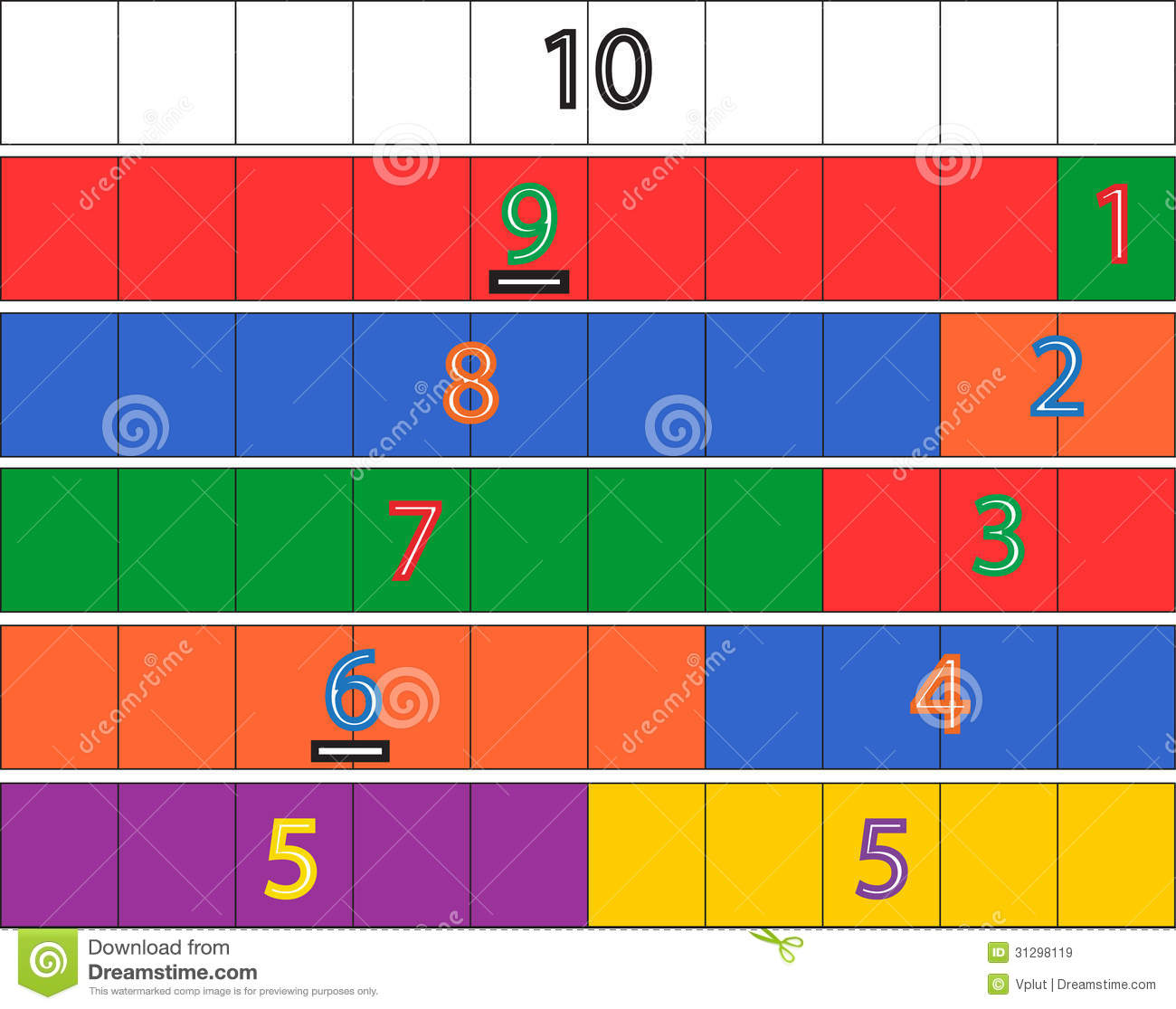 Kindergarten Math Game Royalty Free Stock Images - Image: 31298119