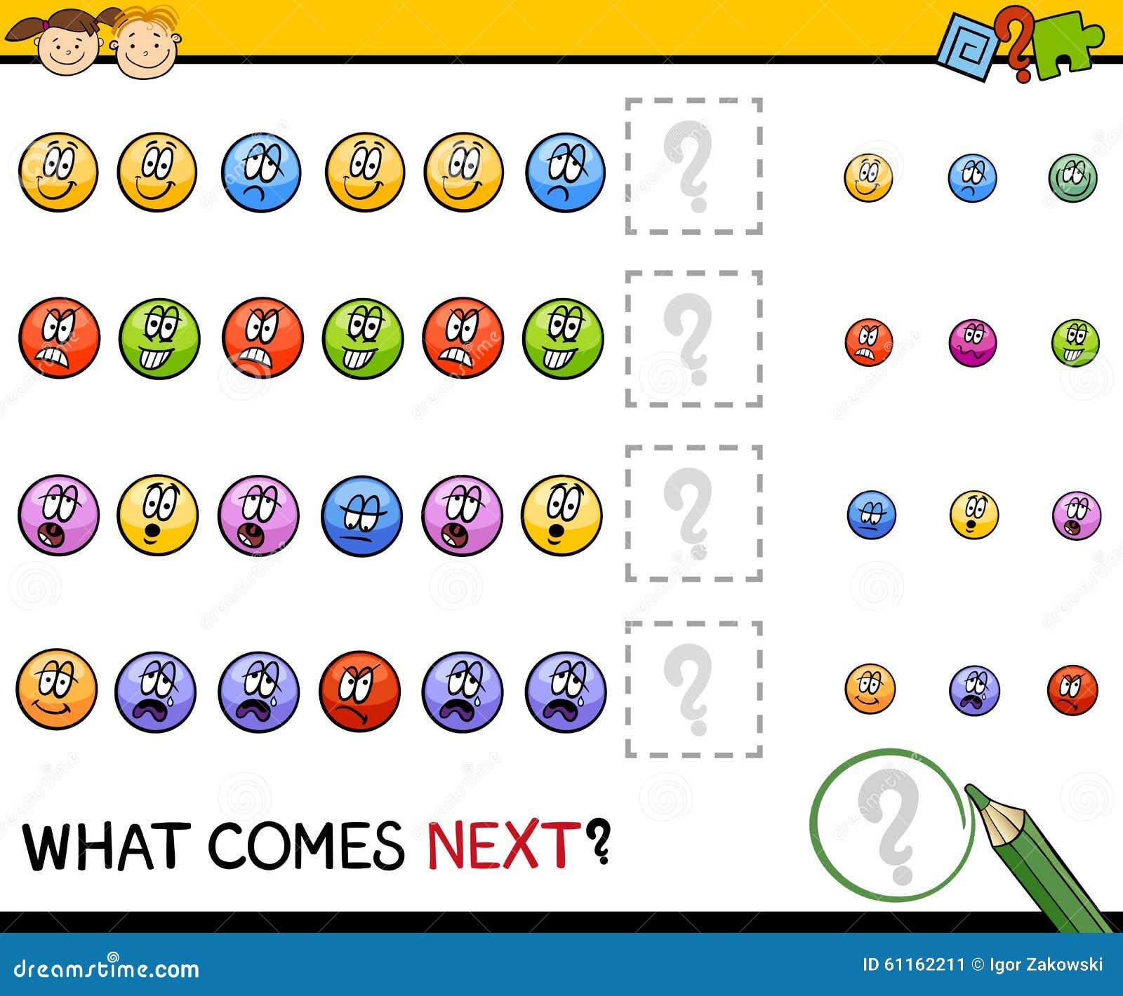 Kindergarten pattern task stock vector. Image of comes ...