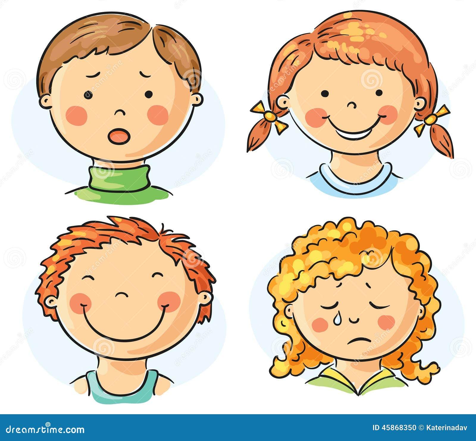 Kindergesichter vektor abbildung. Illustration von ...