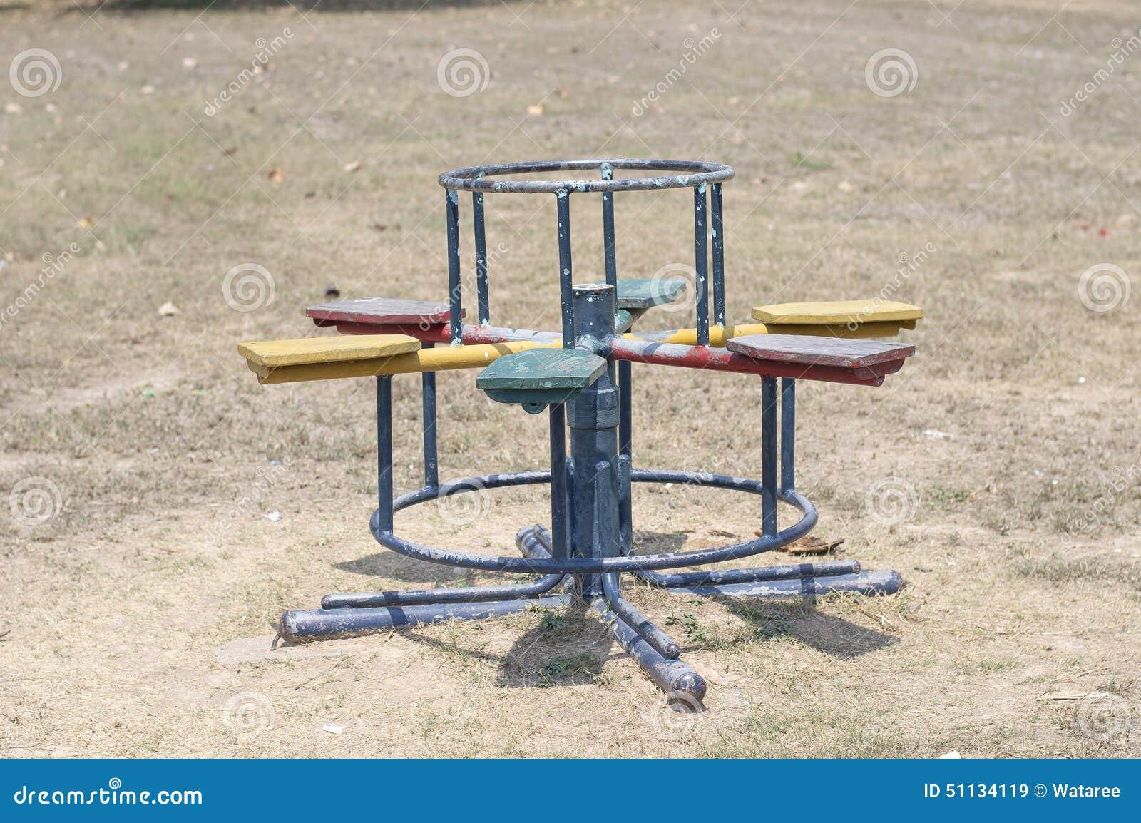 Kinderkarussell Im Spielplatz Stockbild Bild Von Asien Asiatisch