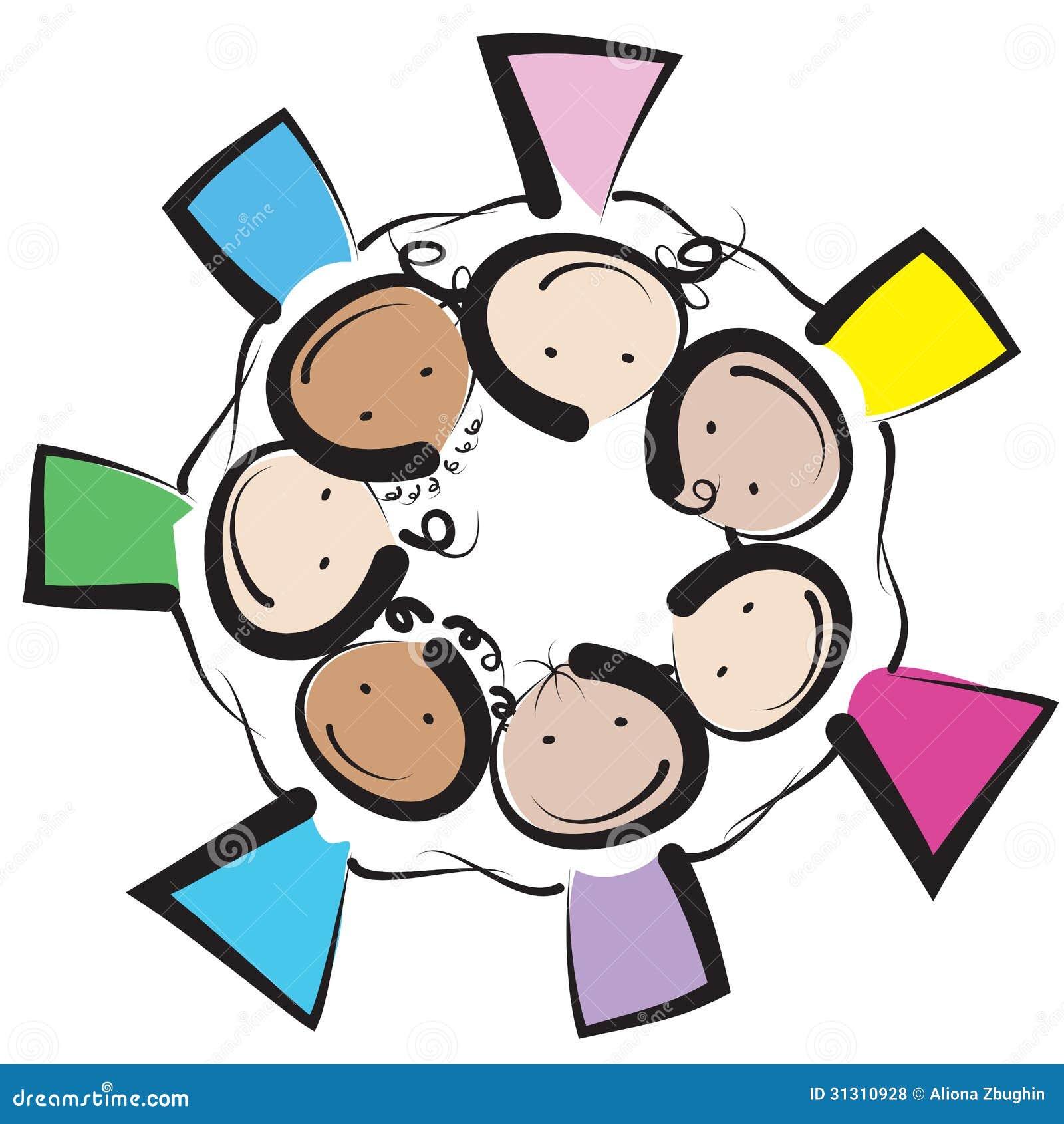 Kinderkreis clipart  Kinderkreis Lizenzfreie Stockfotos - Bild: 31310928