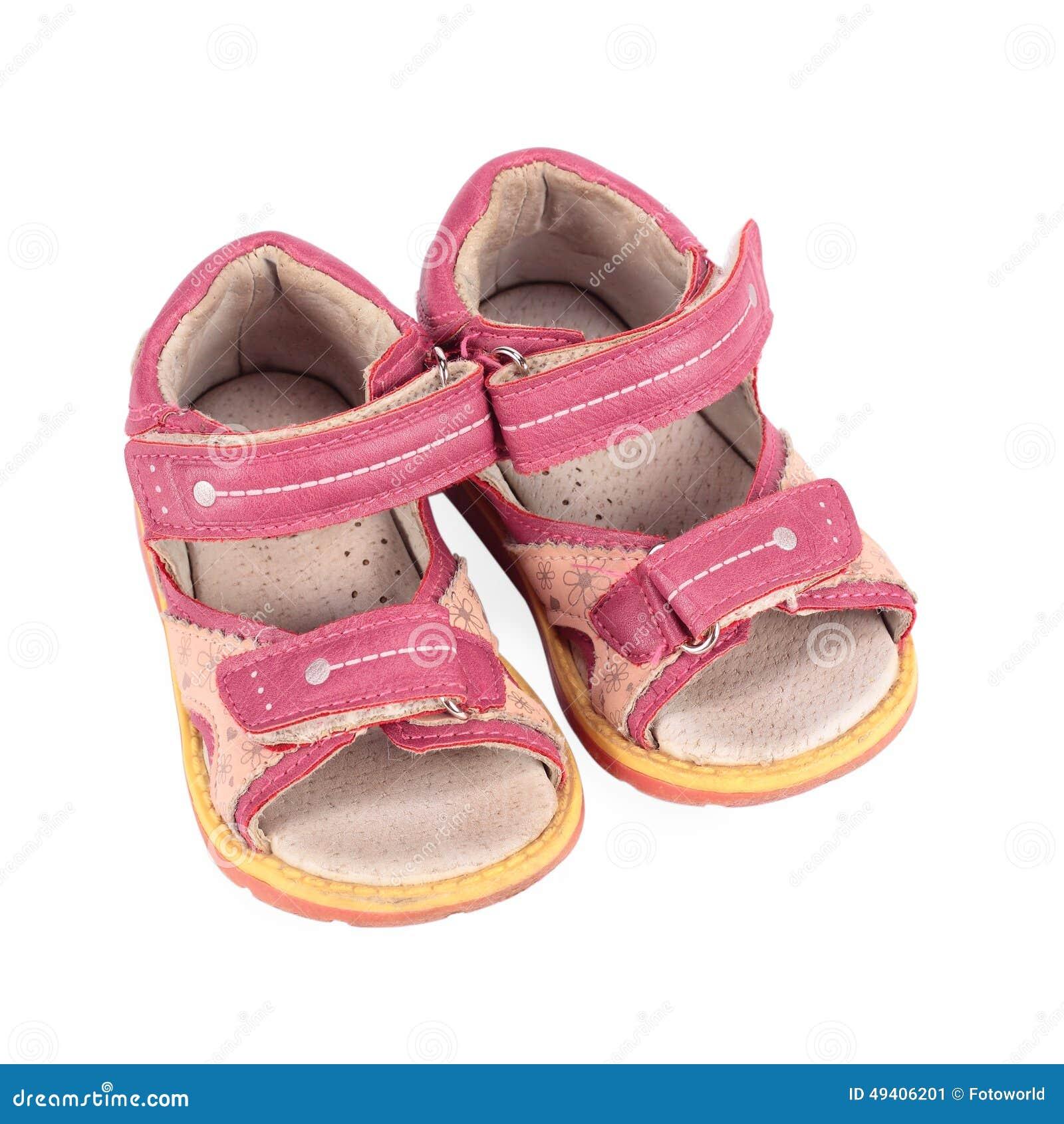 Download Kindersandalen stockbild. Bild von schätzchen, kleidung - 49406201