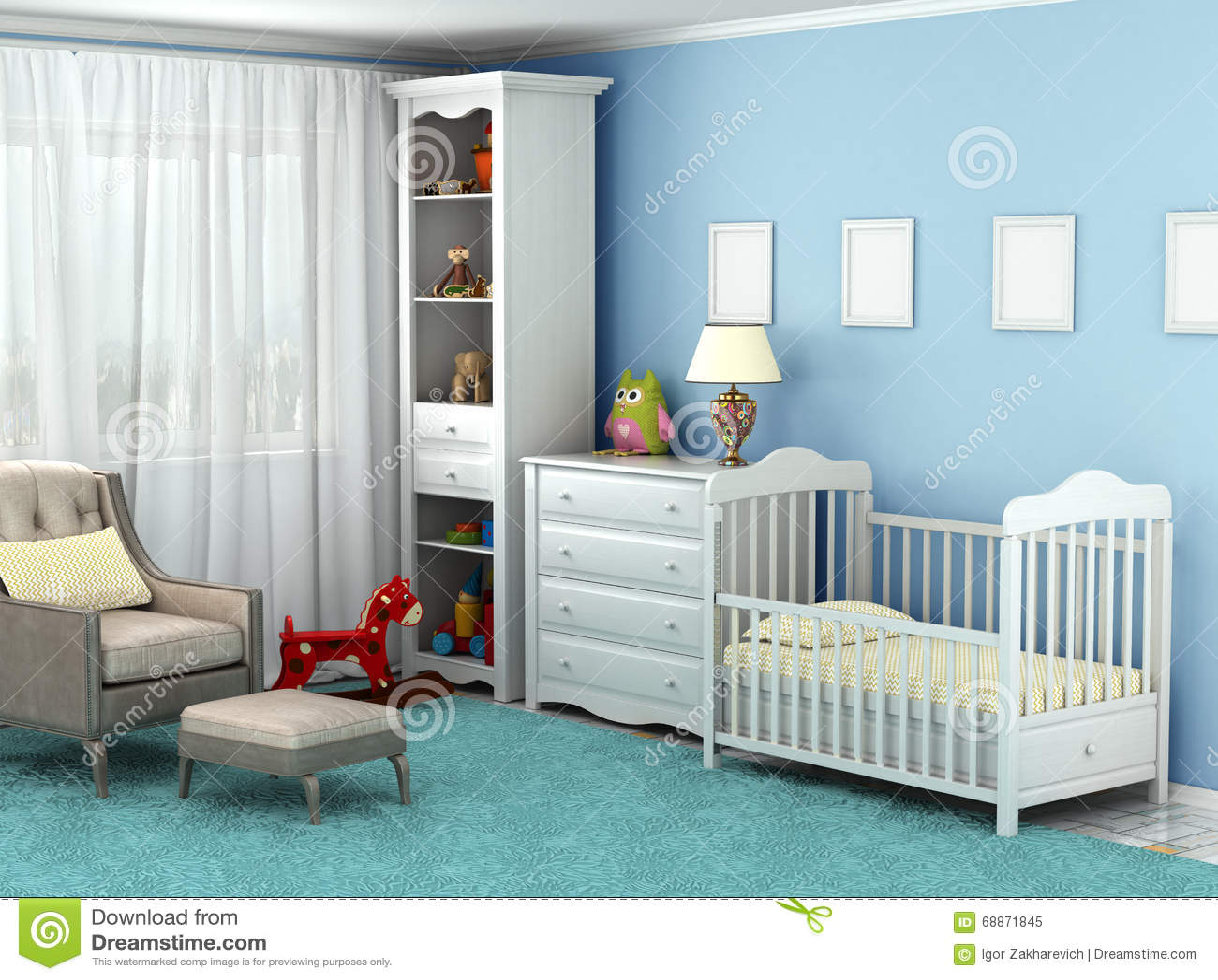 kinderzimmer, in dem es einen stuhl gibt, spielwaren, möbel