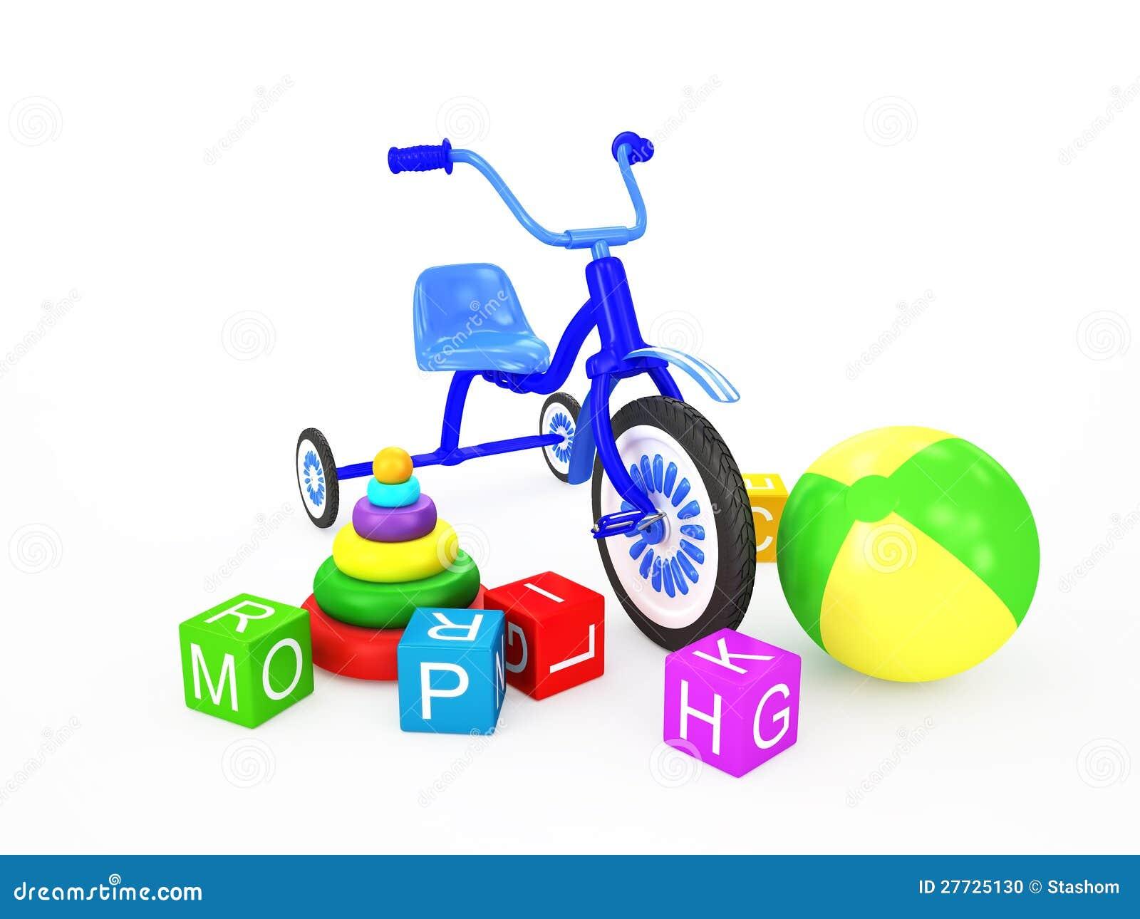Kindspielwaren mit Dreirad