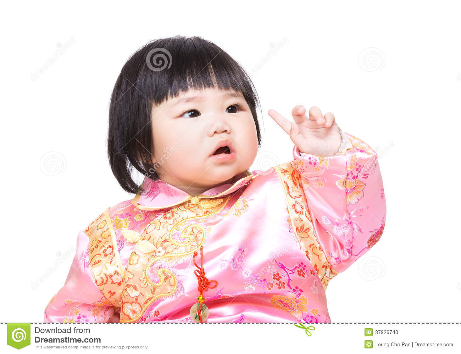 Kines behandla som ett barn fingerpunkt upp