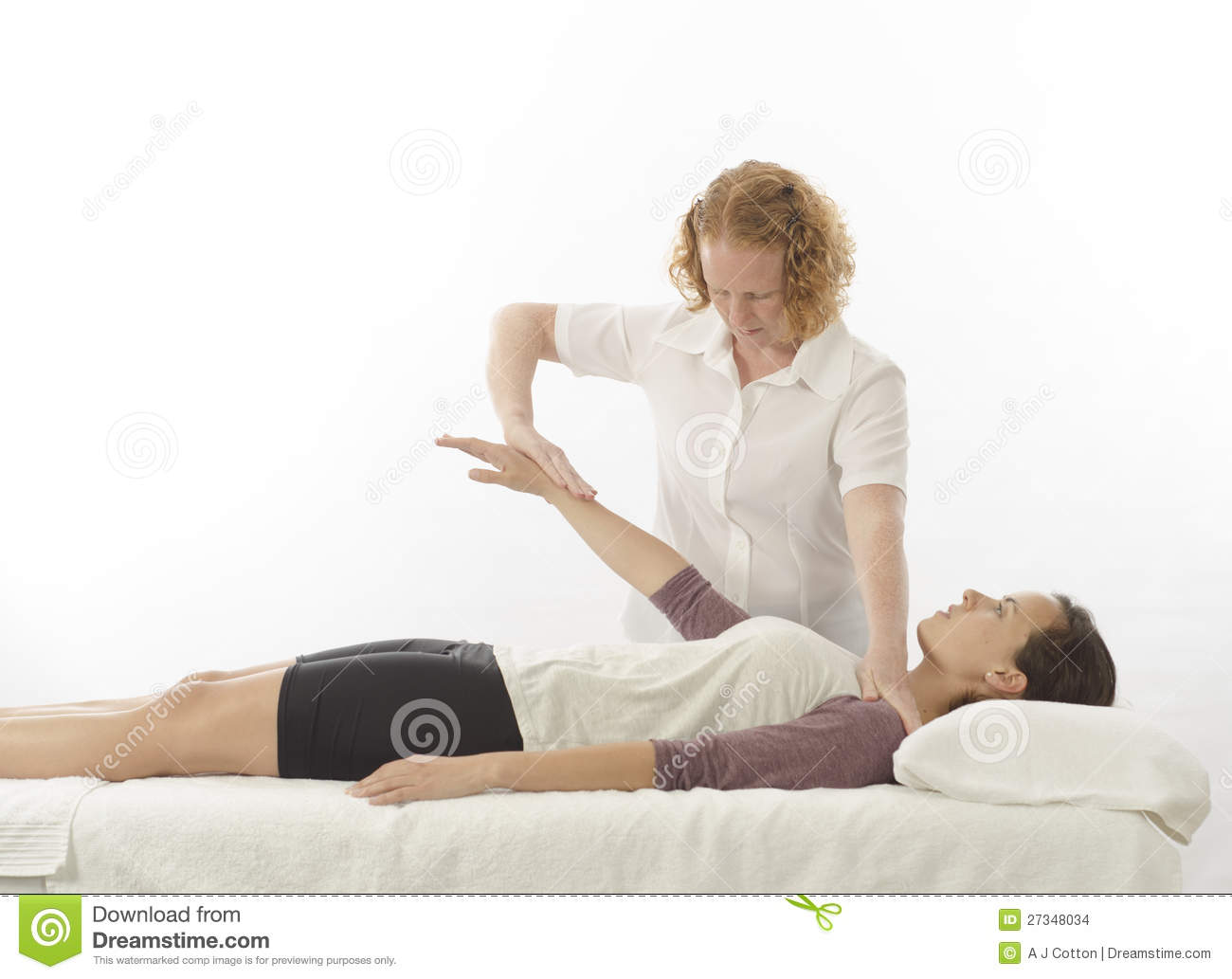 Kinesiologist Treating Anterior Deltoid Stock Photo Image Of