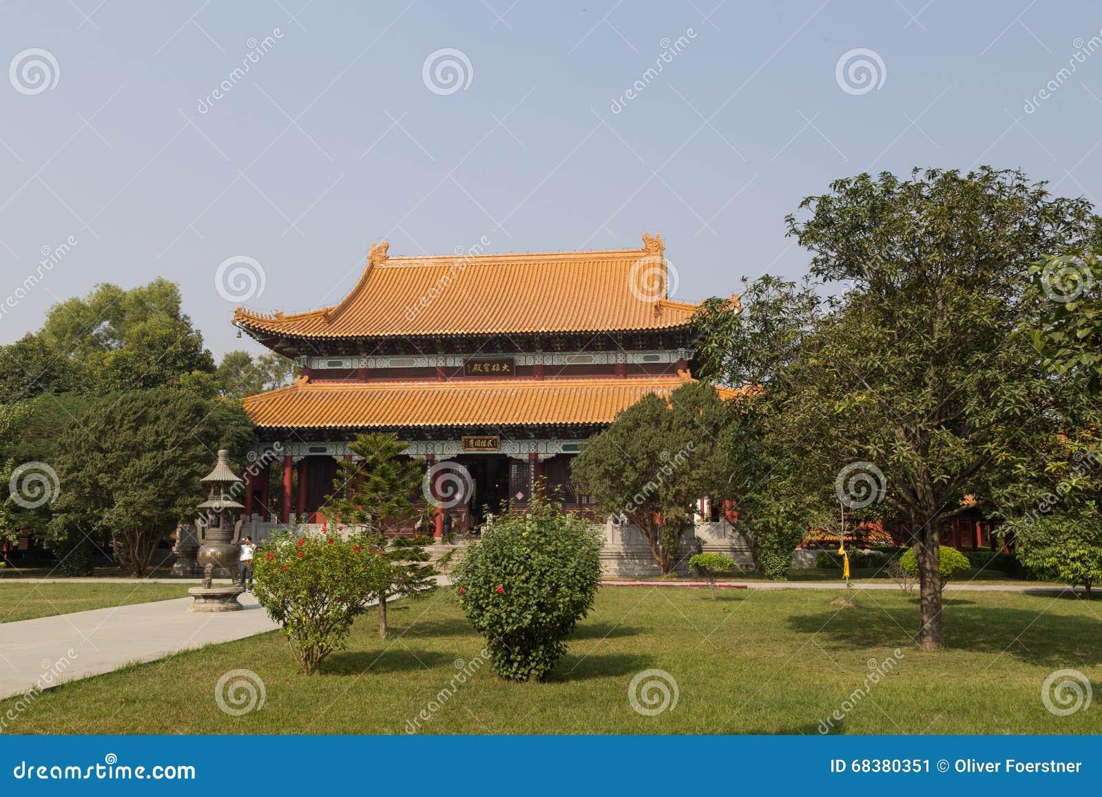Kinesisk buddistisk tempel i Lumbini, Nepal