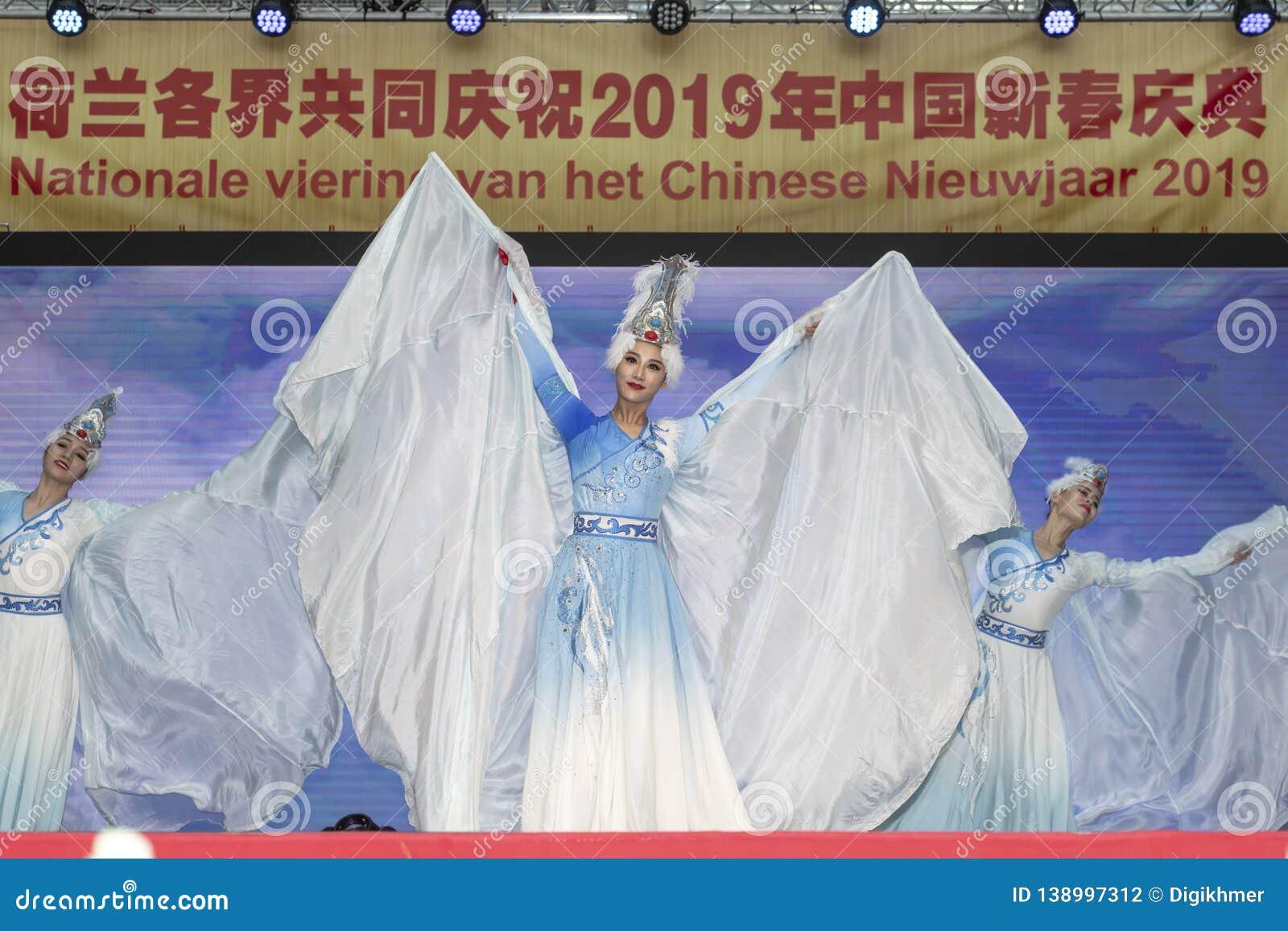 Kinesisk dansa kapacitet för nytt år 2019
