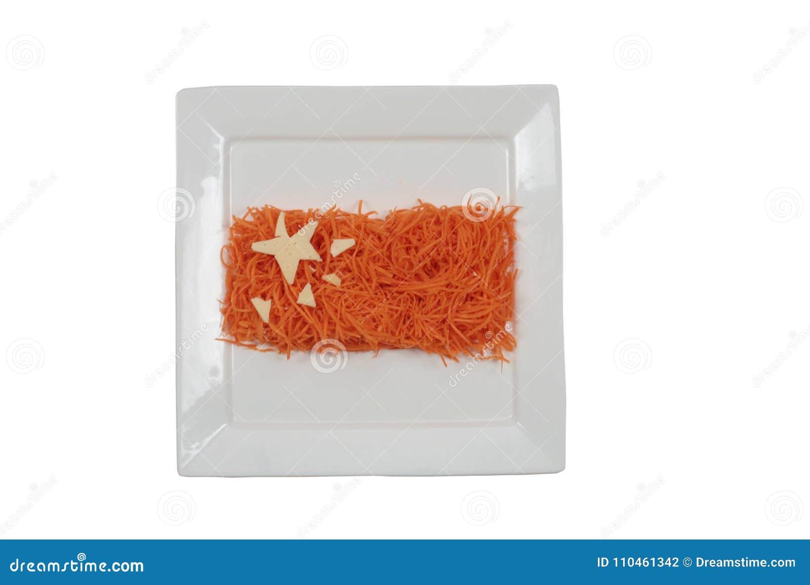 Kinesisk flagga på plattan