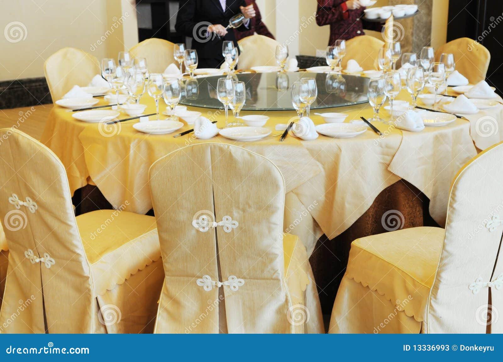 Kinesisk inställningstabell för banquette