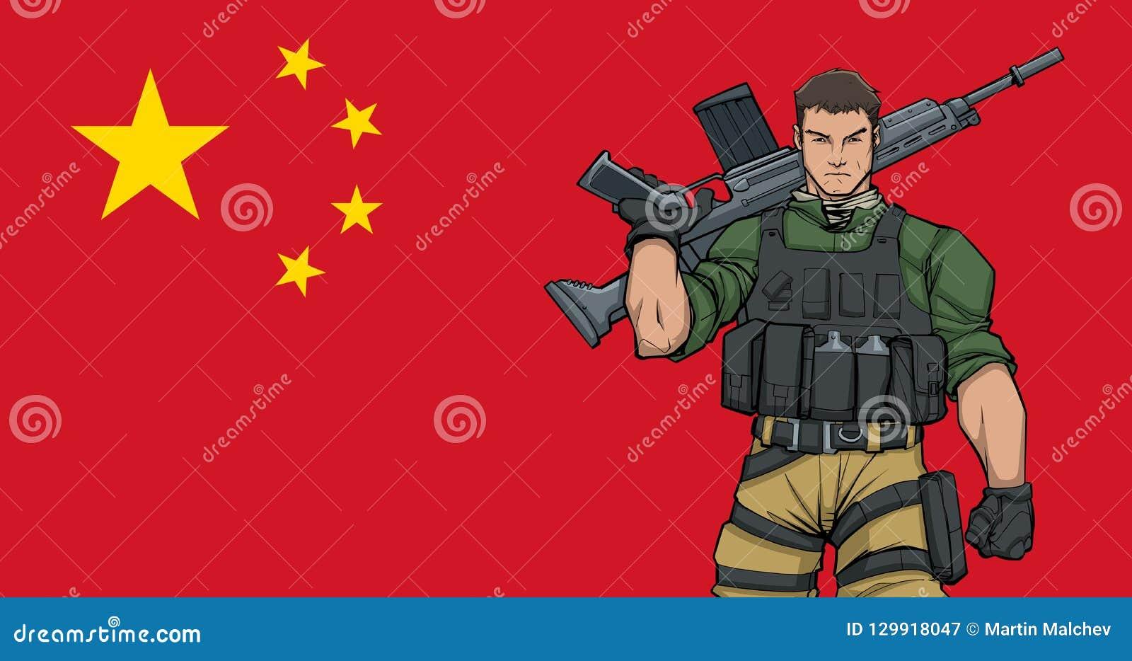Kinesisk soldat Background