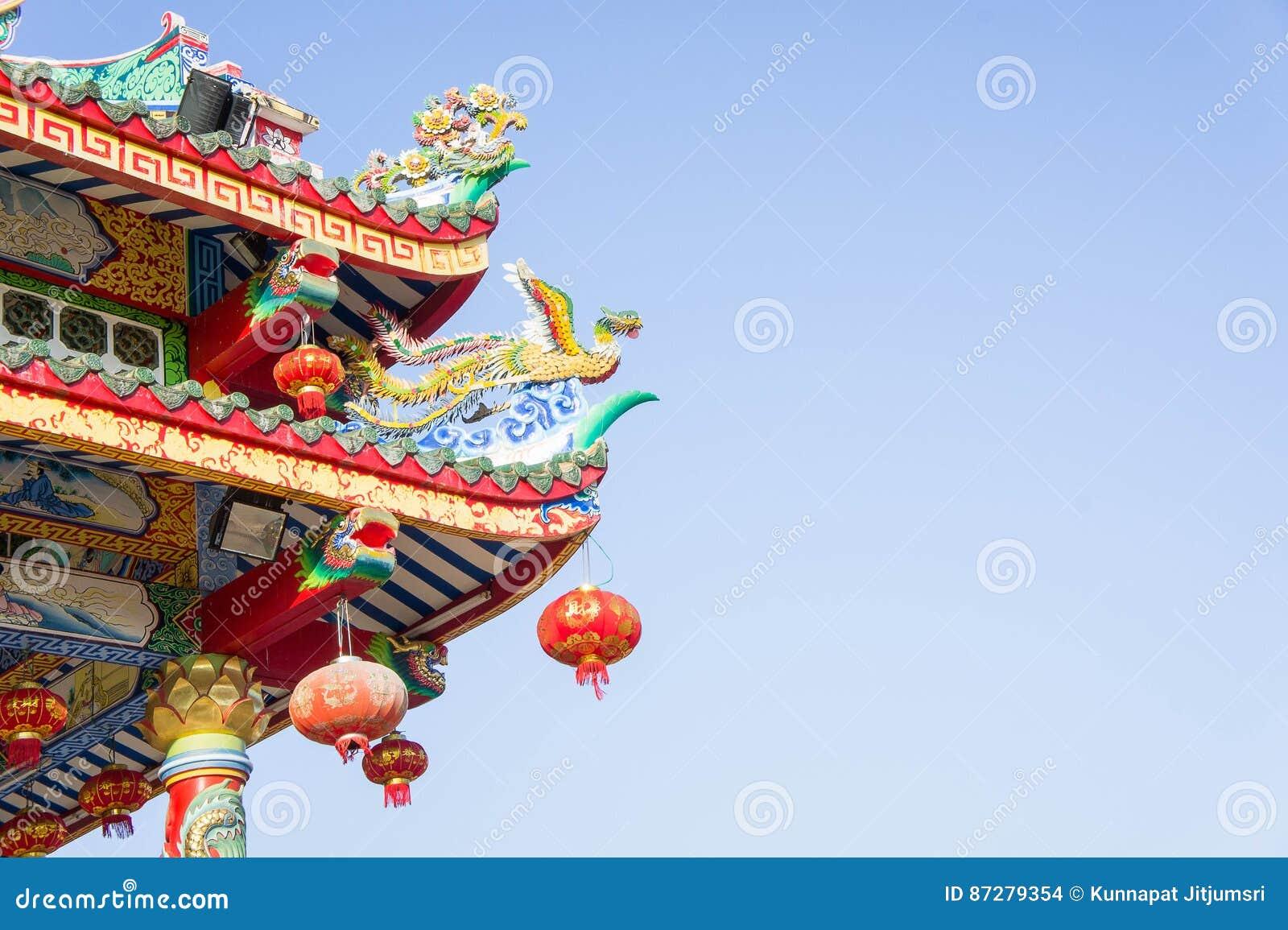Kinesisk tempel och himmel, kinesisk kultur