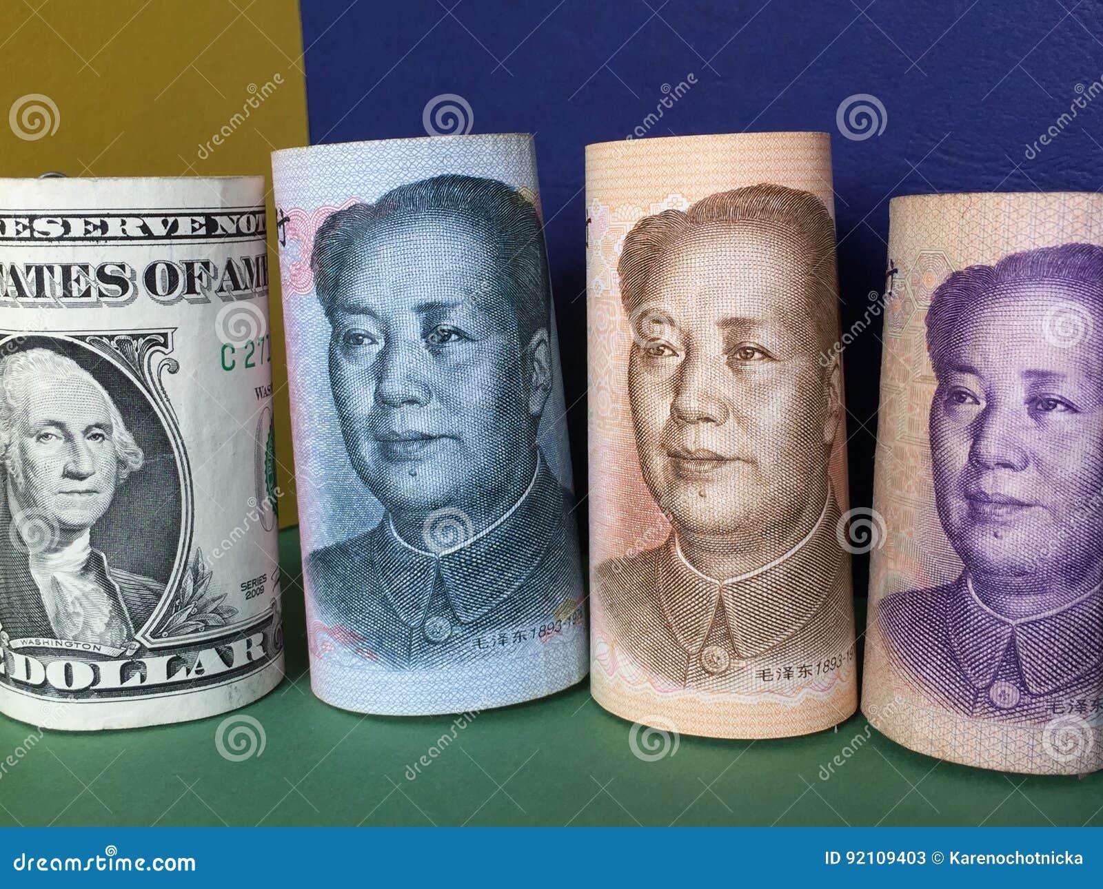 Kinesisk yuan för US dollar kontra