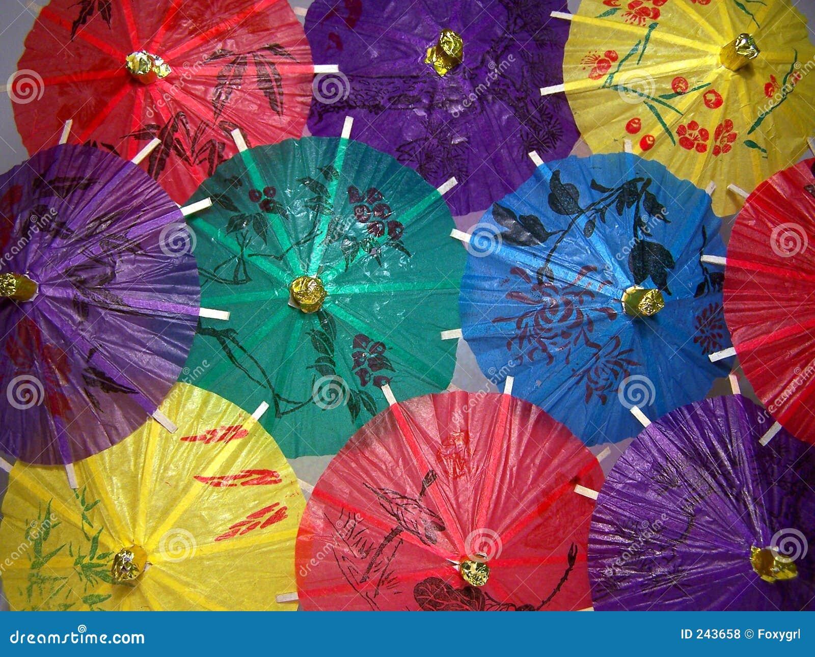 Kinesiska färgrika paraplyer