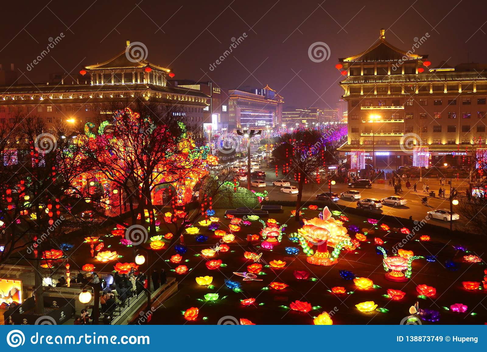 2019 kinesiska nya år i Xian