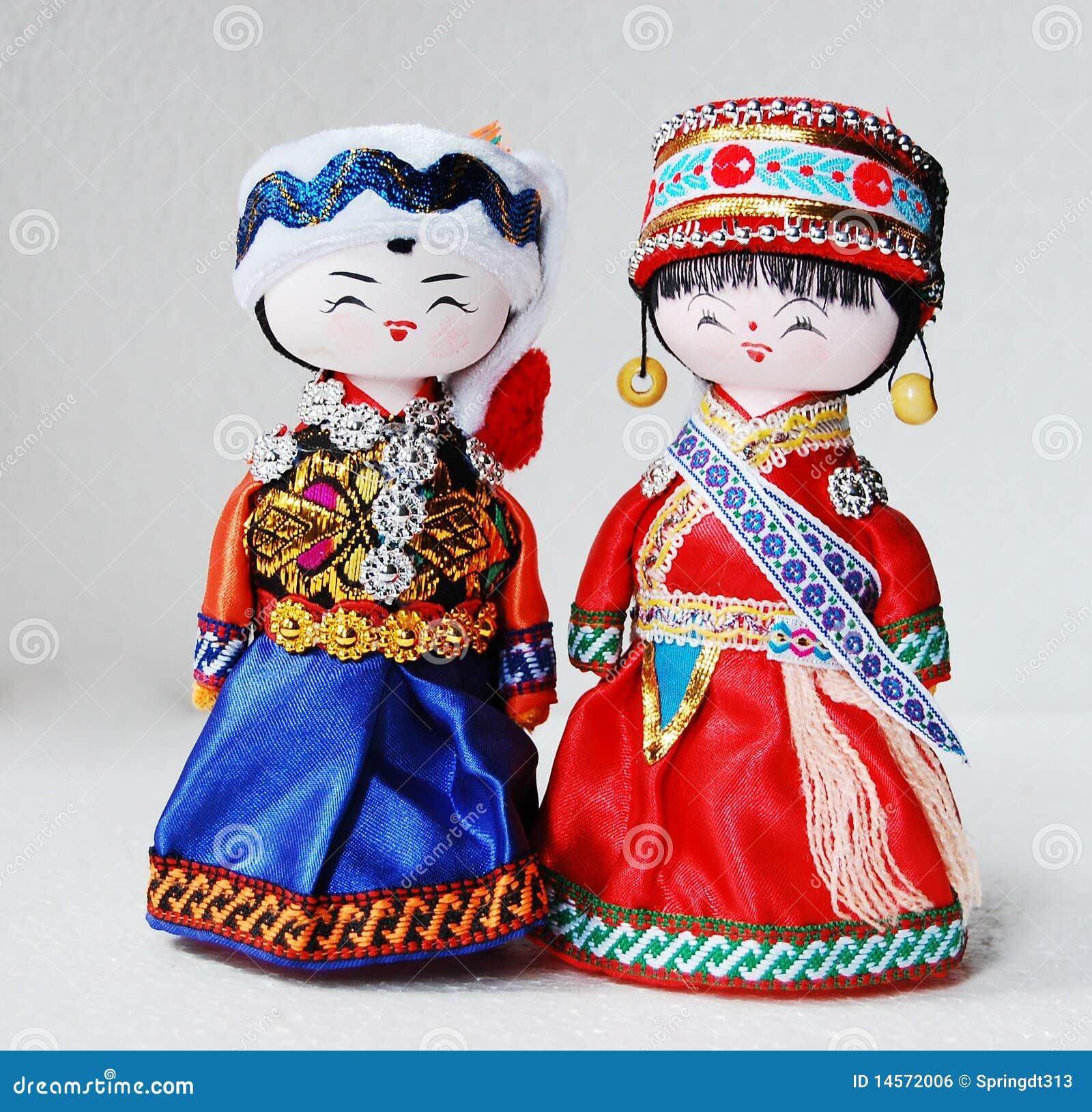 Kinesiska traditionella dockavänner