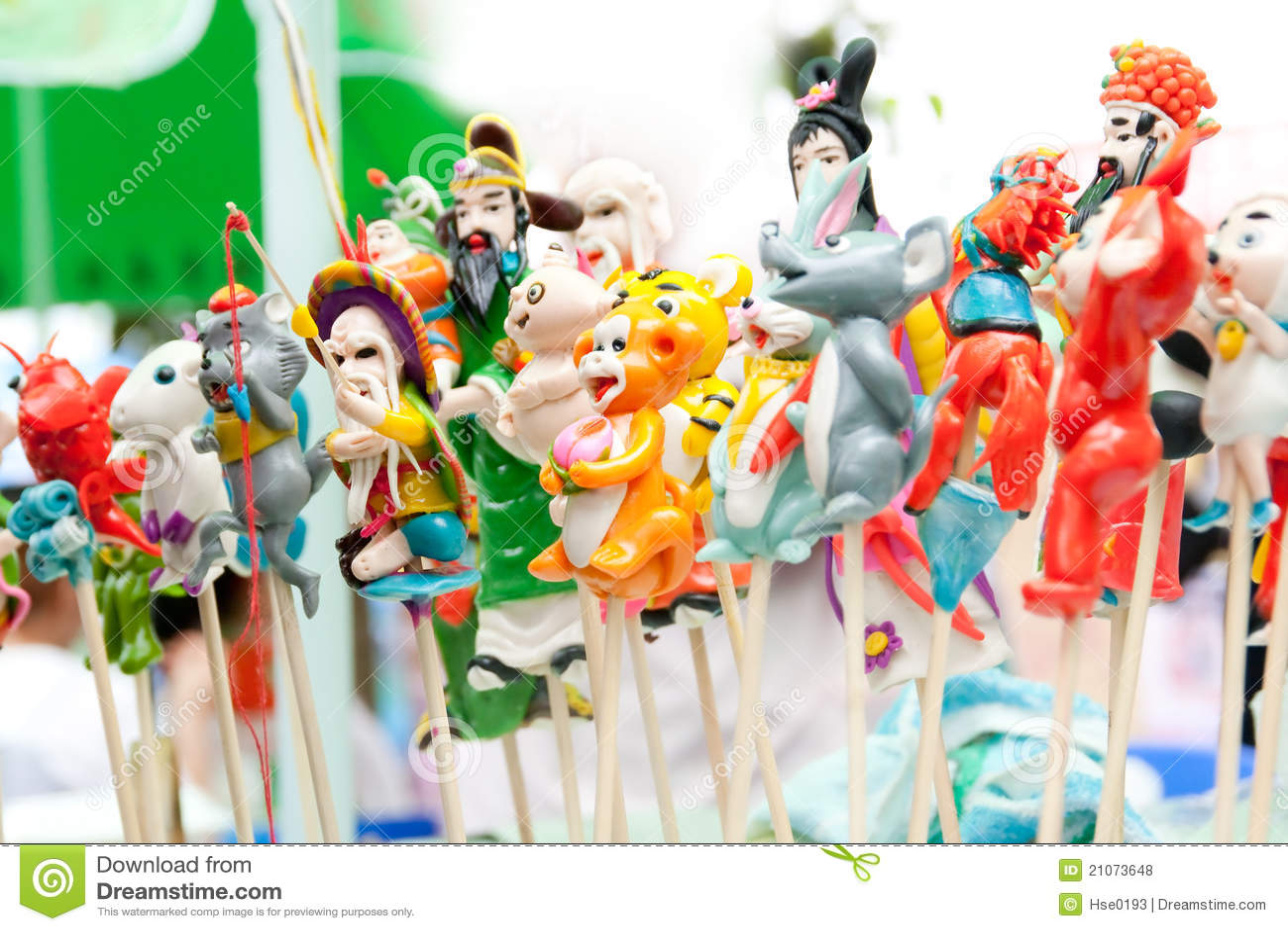 Kinesiska traditionella hantverkdegfigurines