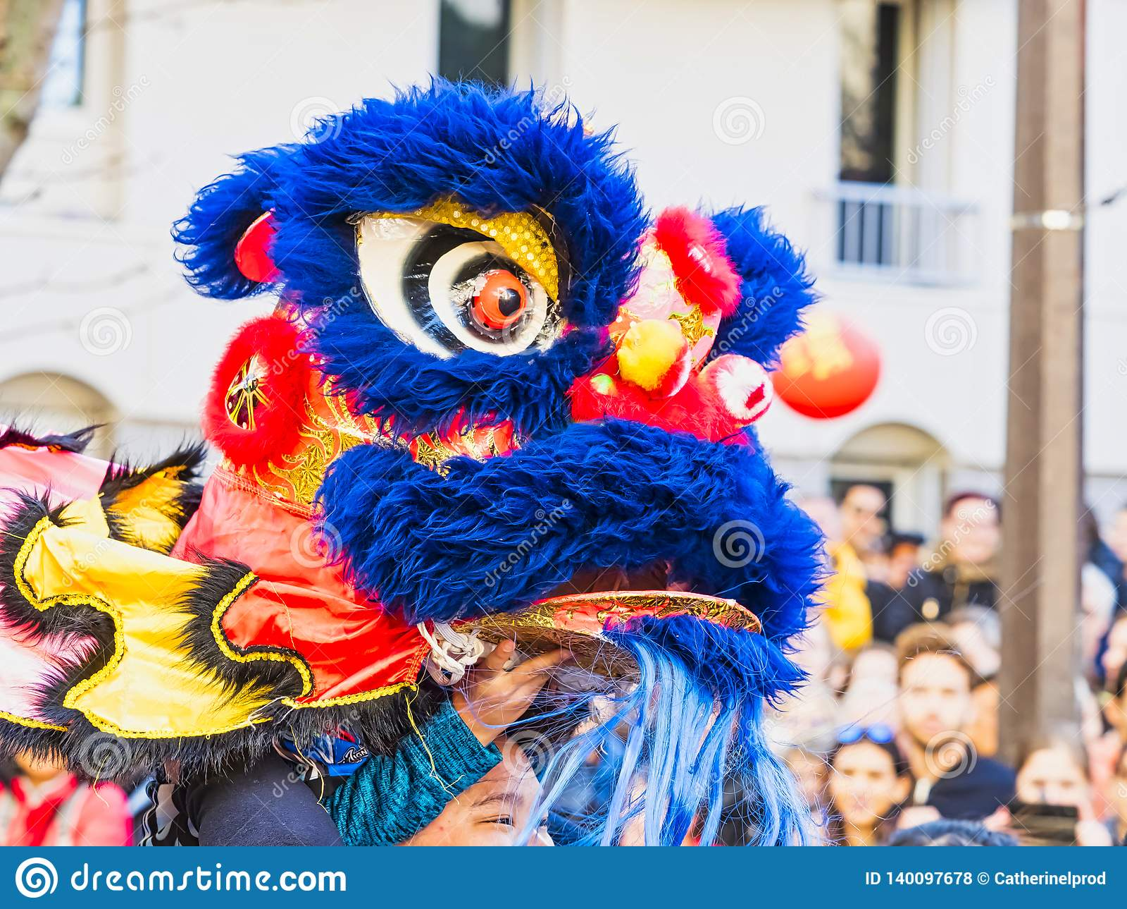 Kinesiskt nytt år Paris 2019 Frankrike - lejondans