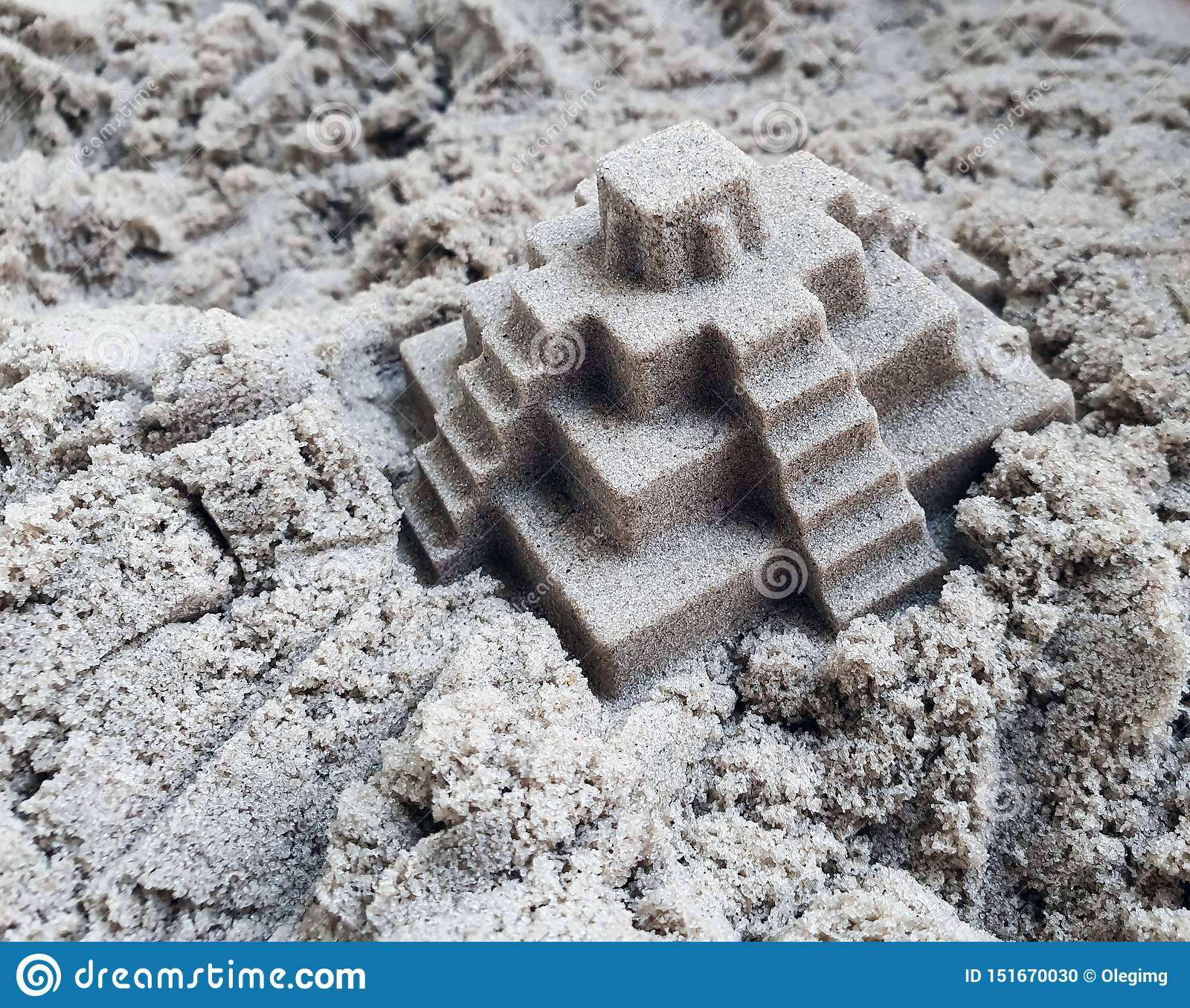 Kinetic sand for children ideal for playing in the yard. Creativity texture