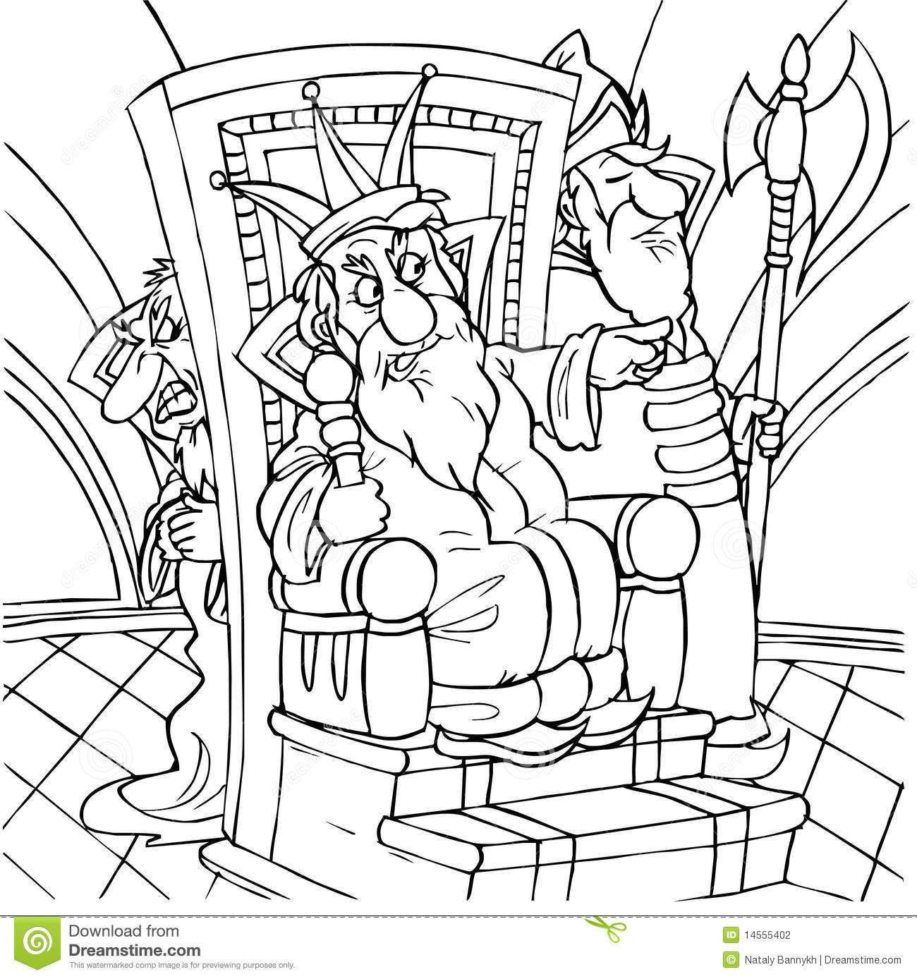 david on the throne coloring pages | King stock illustration. Illustration of childhood ...