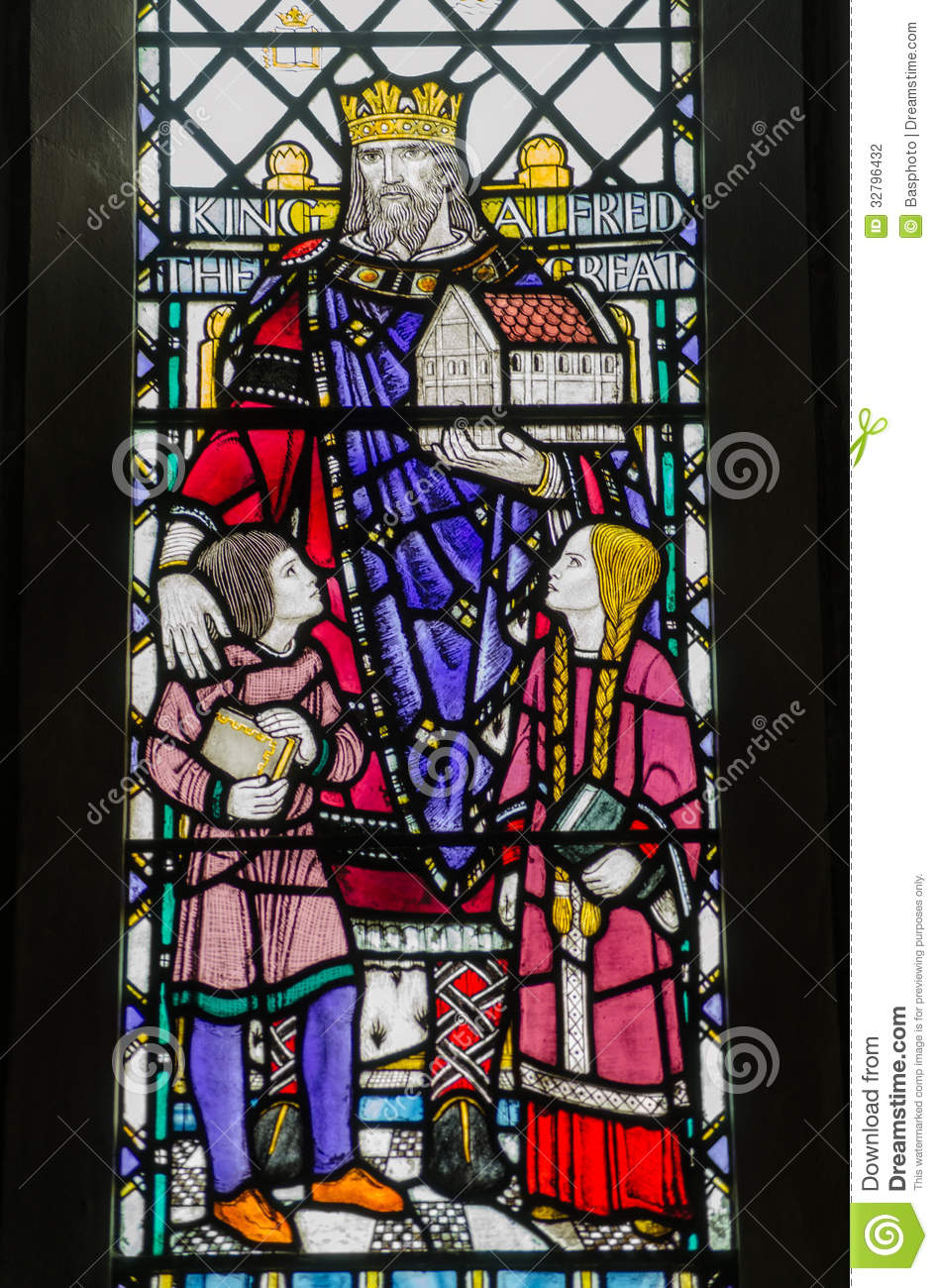 King Alfred Window Winchester Stock Photo Image Of