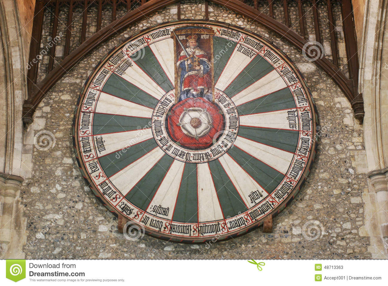 King Arthur 39 S Round Table On Temple Wall In Winchester UK Stock Photo