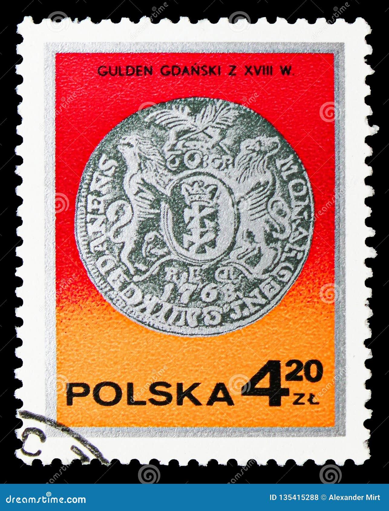 King Augustus III guilder, Gdansk, 18th century, Silver coins serie, circa 1977