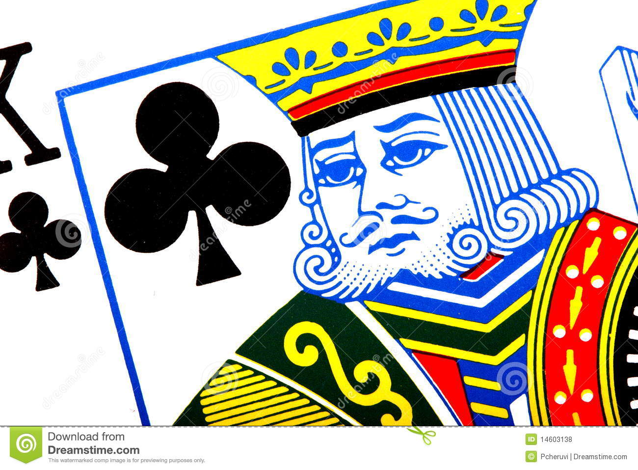 King Of Clubs Royalty Free Stock Photos - Image: 14603138