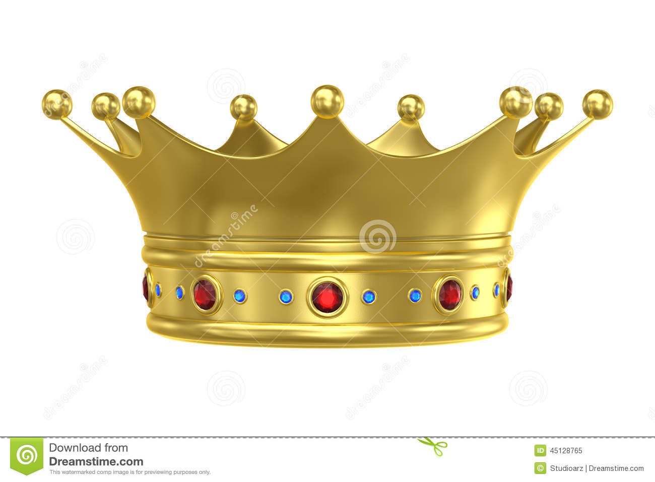 King crown stock illustration image 45128765 - Clipart couronne ...