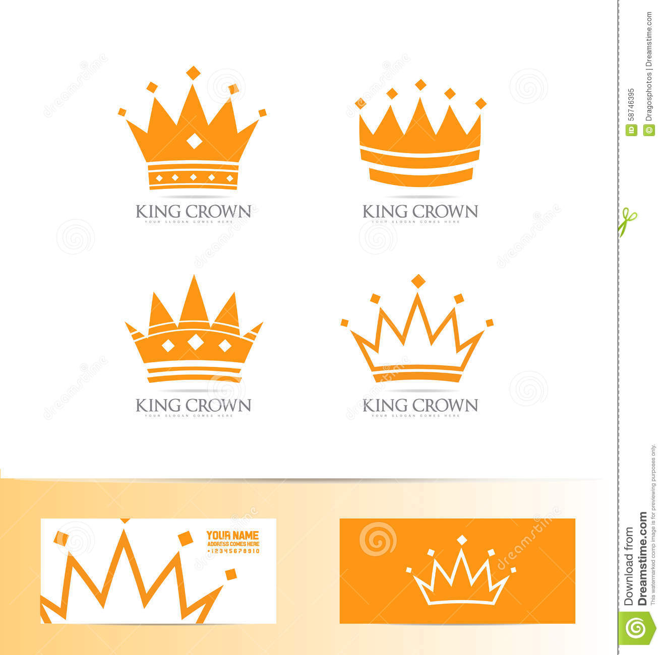 King Crown Logo Icon Set Stock Vector Image: 58746395 - 1315x1300 ...