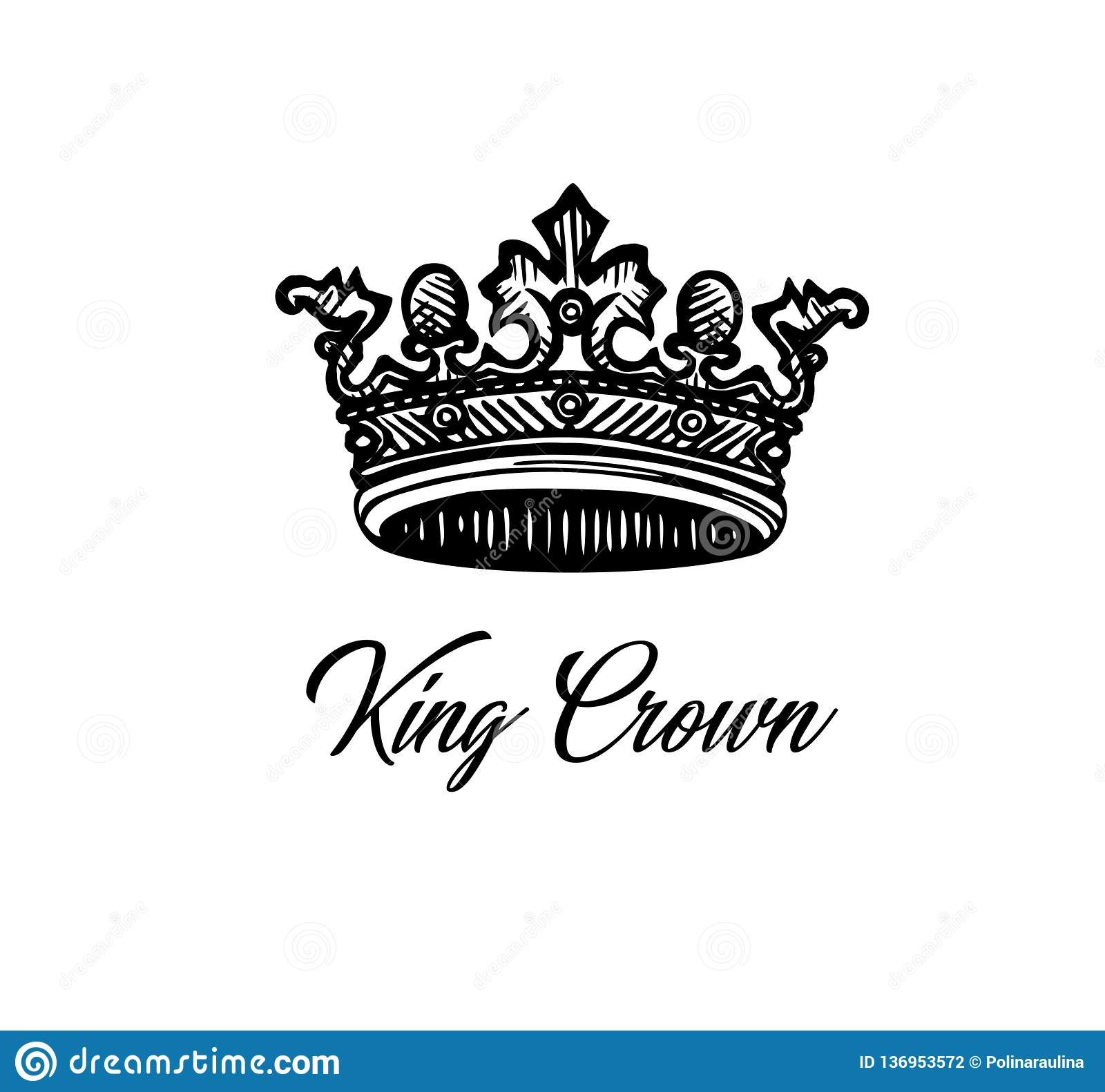 King crown. stock photo. Illustration of handdrown, decoration ...