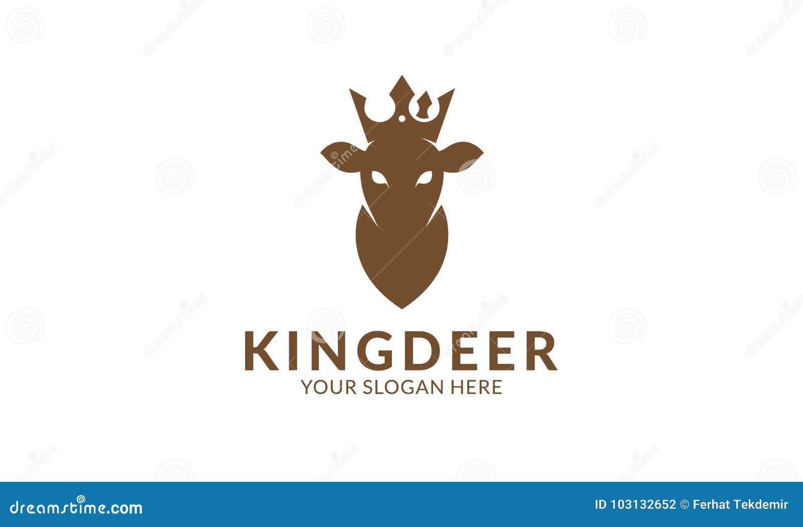 King Deer Logo Template Stock Illustration Illustration Of Logo