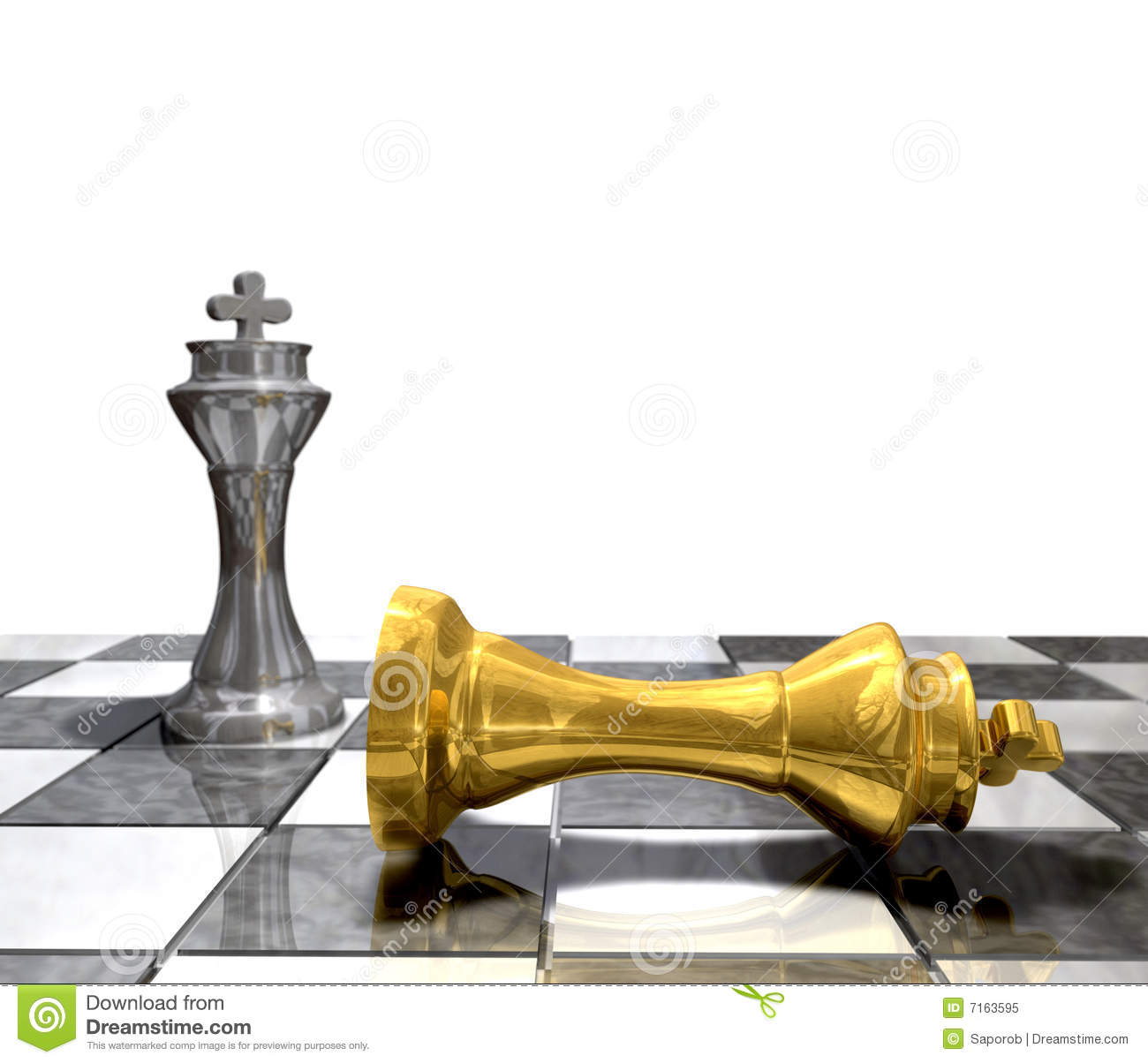 King Defeated Stock Illustration Image Of Check