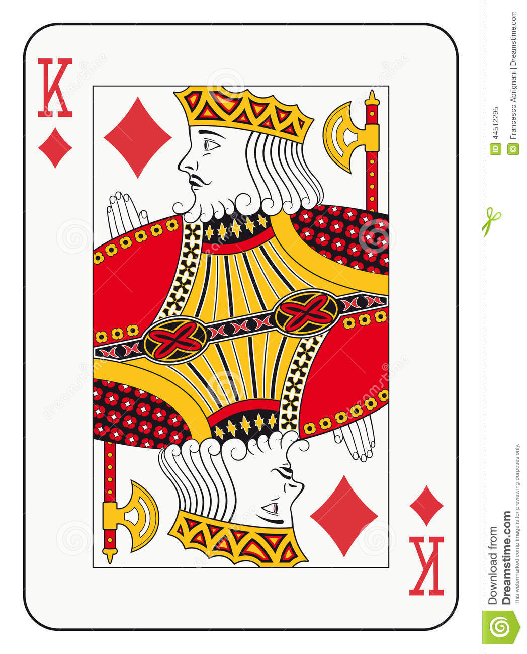 King of diamonds stock vector. Illustration of blackjack ...