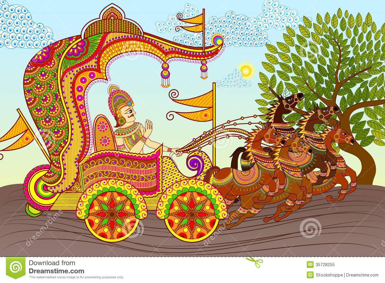 King In Horse Chariot Royalty Free Stock Photo Image