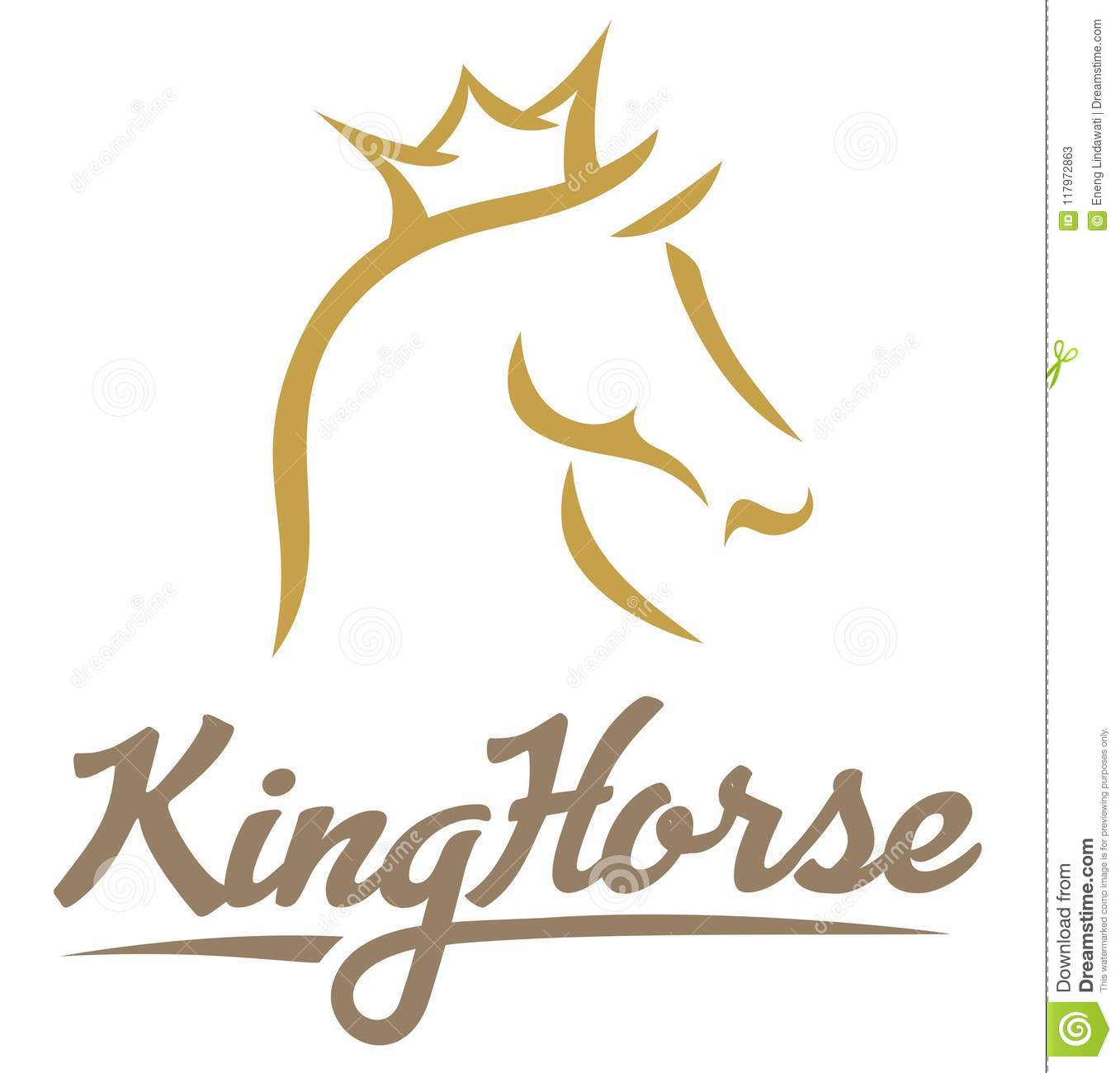 King Horse Gold Abstract Stock Illustration Illustration Of Sketch 117972863
