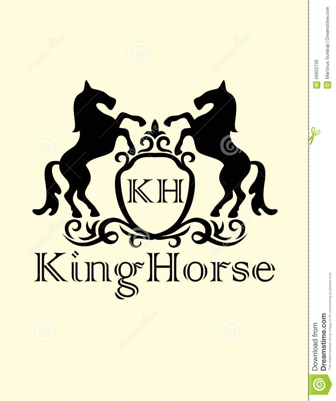 King Horse Logo Stock Vector Illustration Of Pattern 58952736