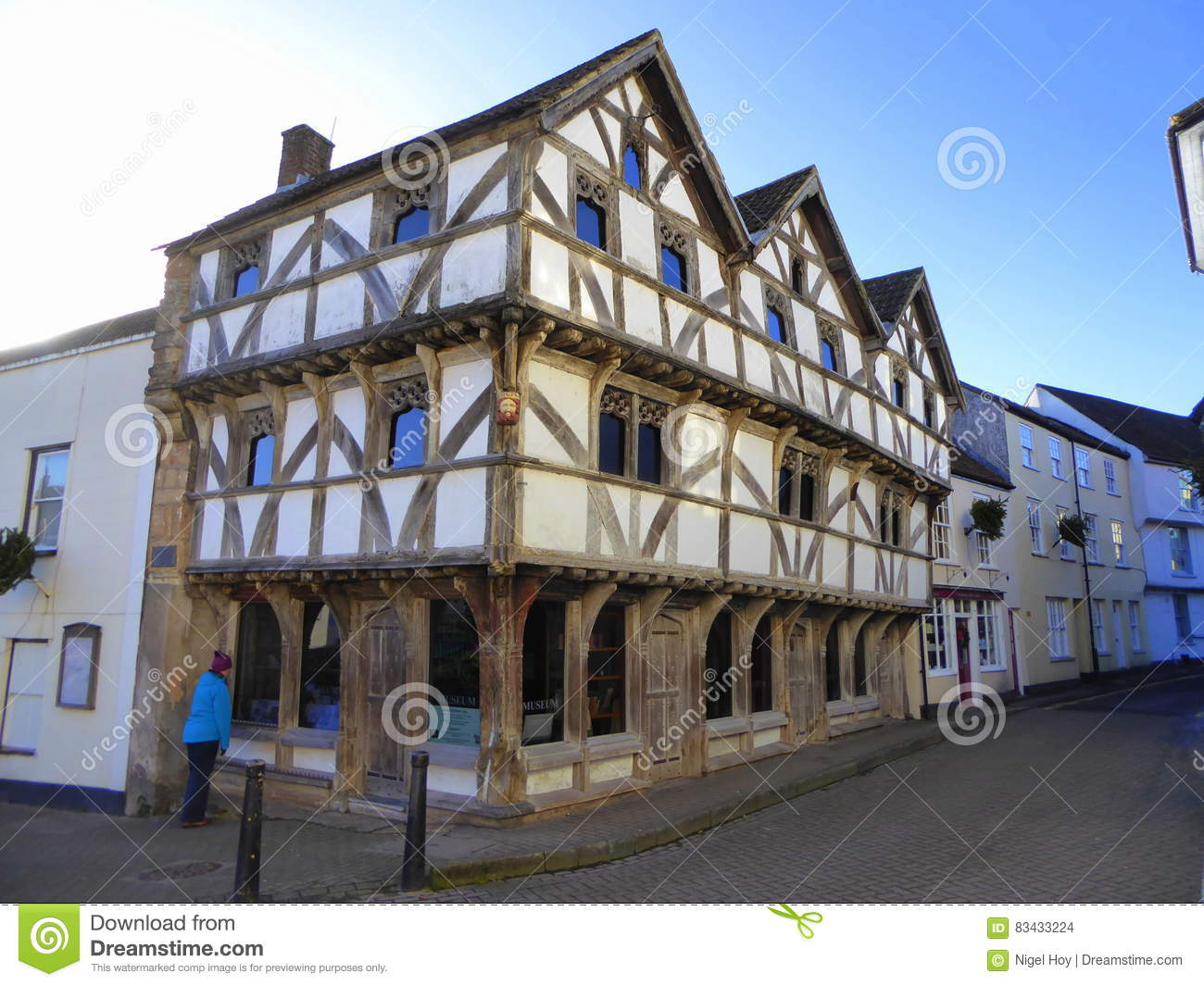 A timber frame building stock photo  Image of historic