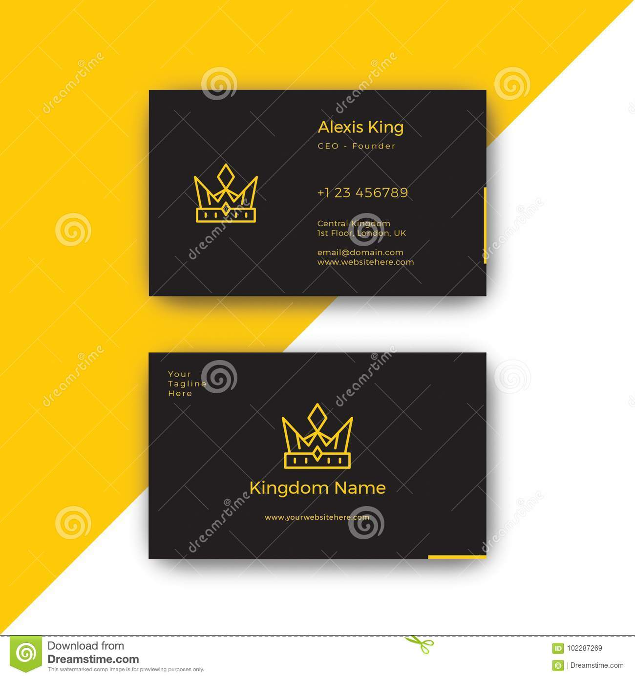 King luxury black business card design template stock vector download comp colourmoves