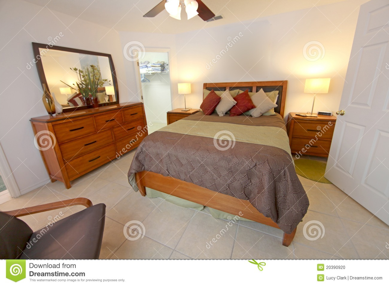 King Master Bedroom Stock Photo Image 20390920