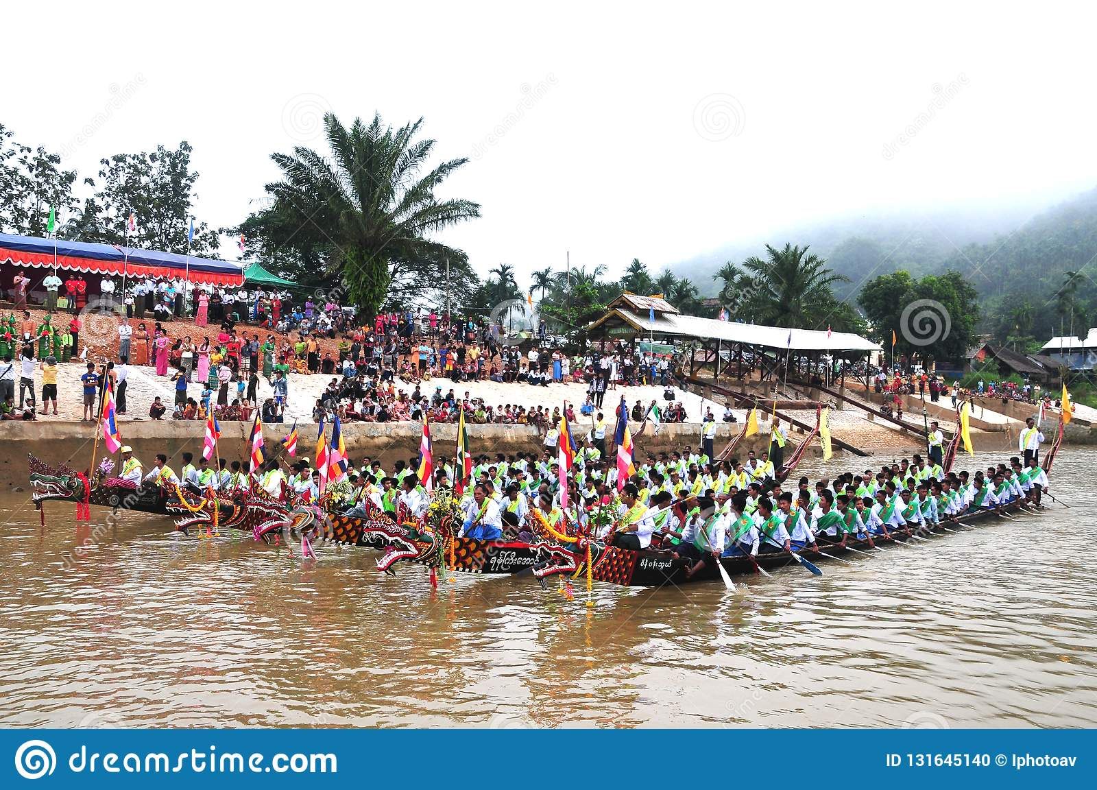 King of Nagas long boat racing festival , This event has been the pride of Tanintharyi for