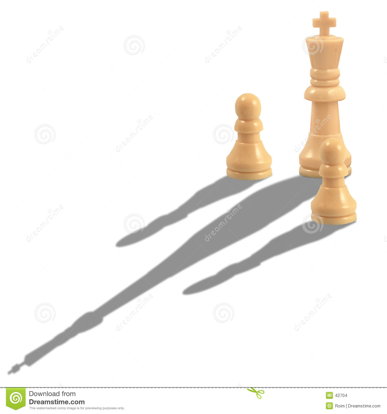 King And Pawn Chess Pieces Stock Images Image 42704