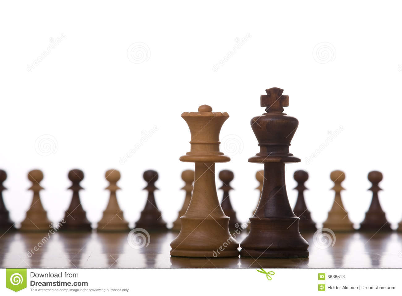 King And Queen Chess Piece Stock Photo Image Of Game 6686518
