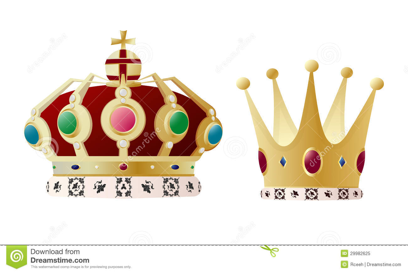 King And Queen Crown Stock Vector Illustration Of Royal 29982625