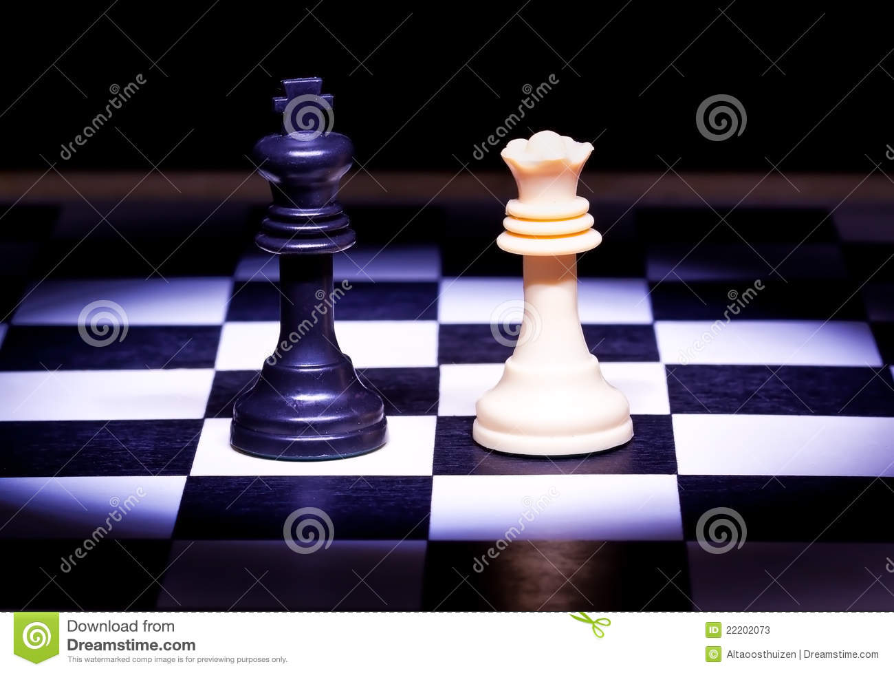 King And Queen Pieces Of Chess Game Stock Image - Image ...